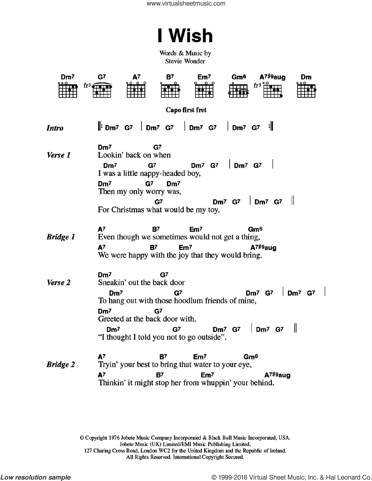 Wonder I Wish Sheet Music For Guitar Chords Pdf