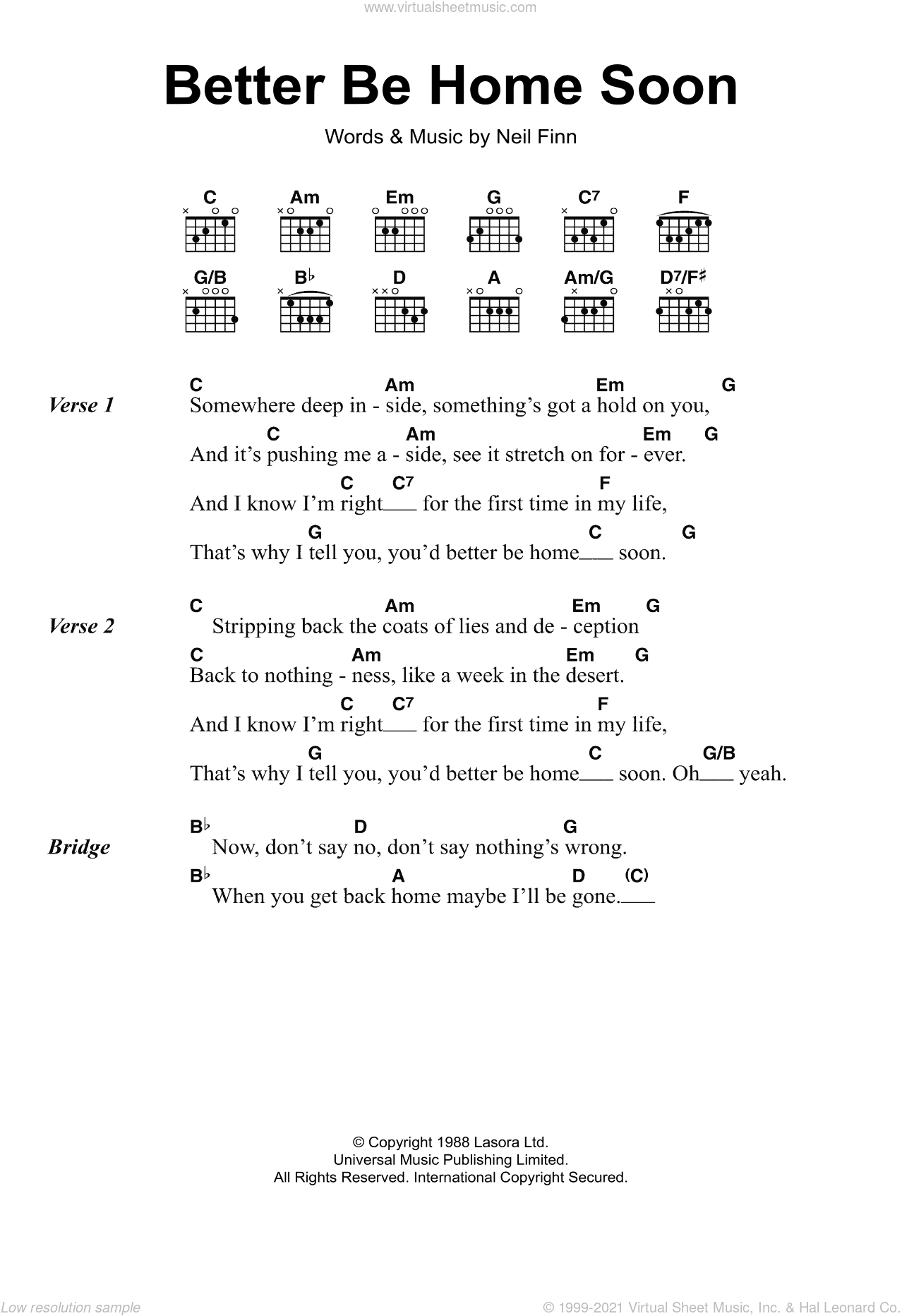 House Better Be Home Soon Sheet Music For Guitar Chords Pdf
