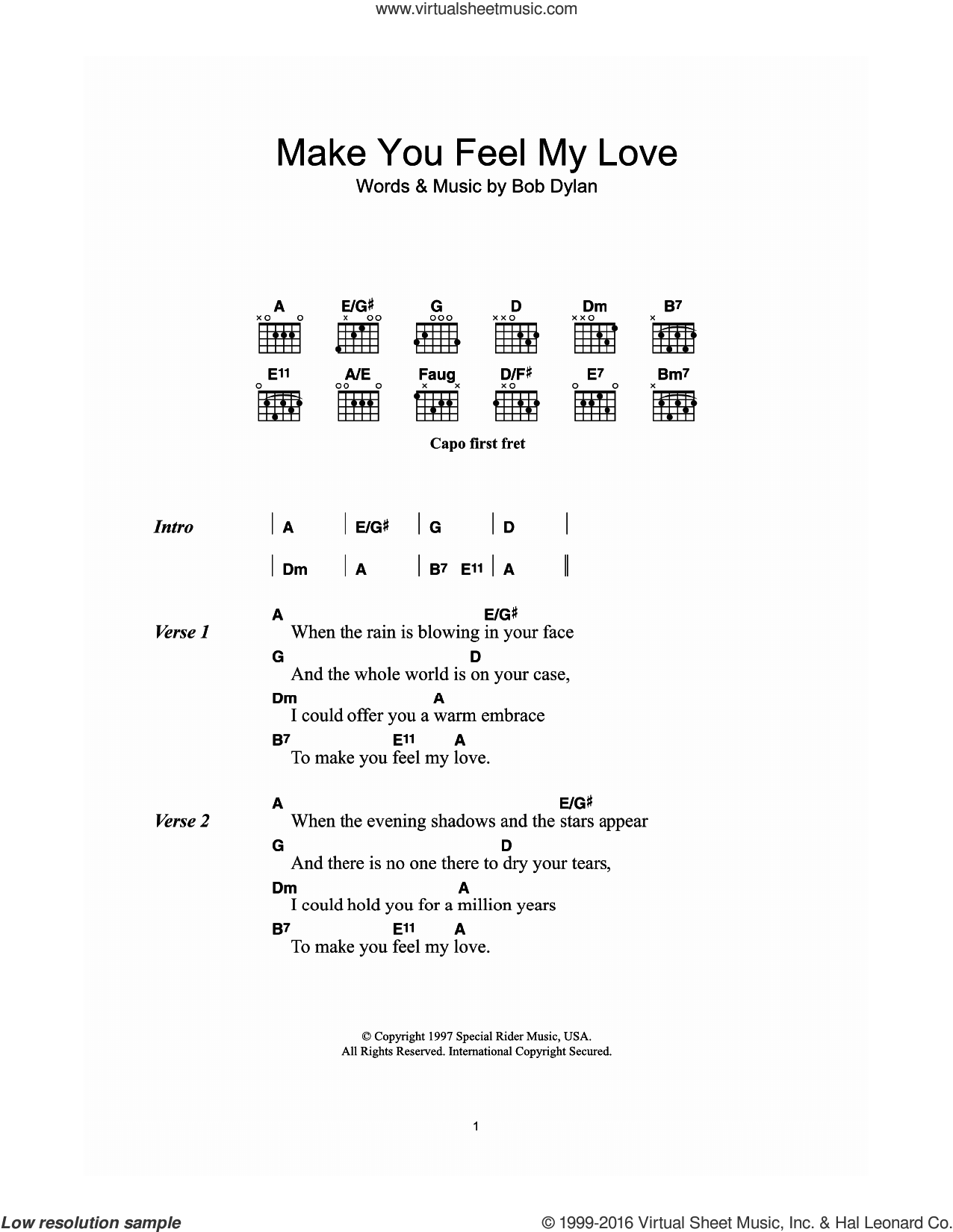 Adele make you feel my love sheet music for guitar chords make you feel my love sheet music for guitar chords by adele and bob hexwebz Image collections