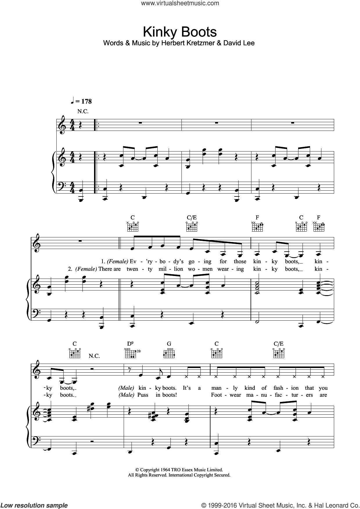 kinky boots sheet music pdf