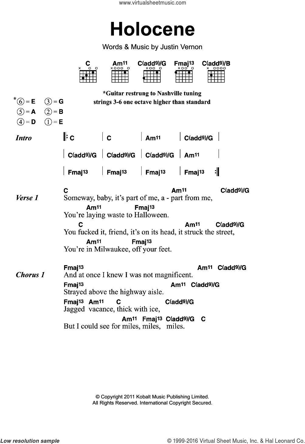 Iver Holocene Sheet Music For Guitar Chords Pdf