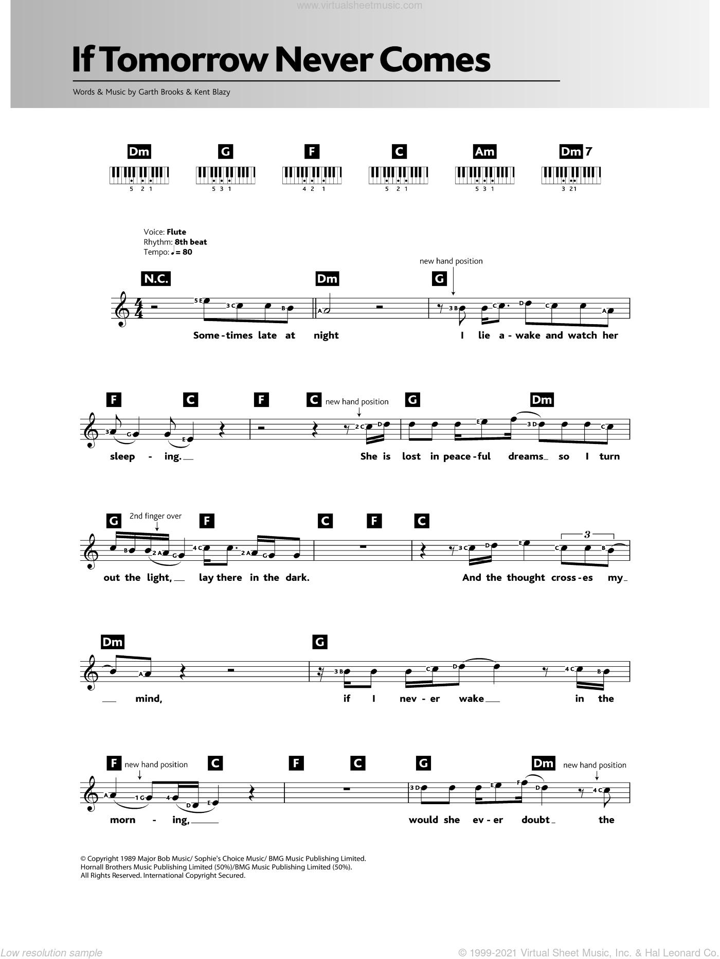 If Tomorrow Never Comes  (Guitar Sheet)