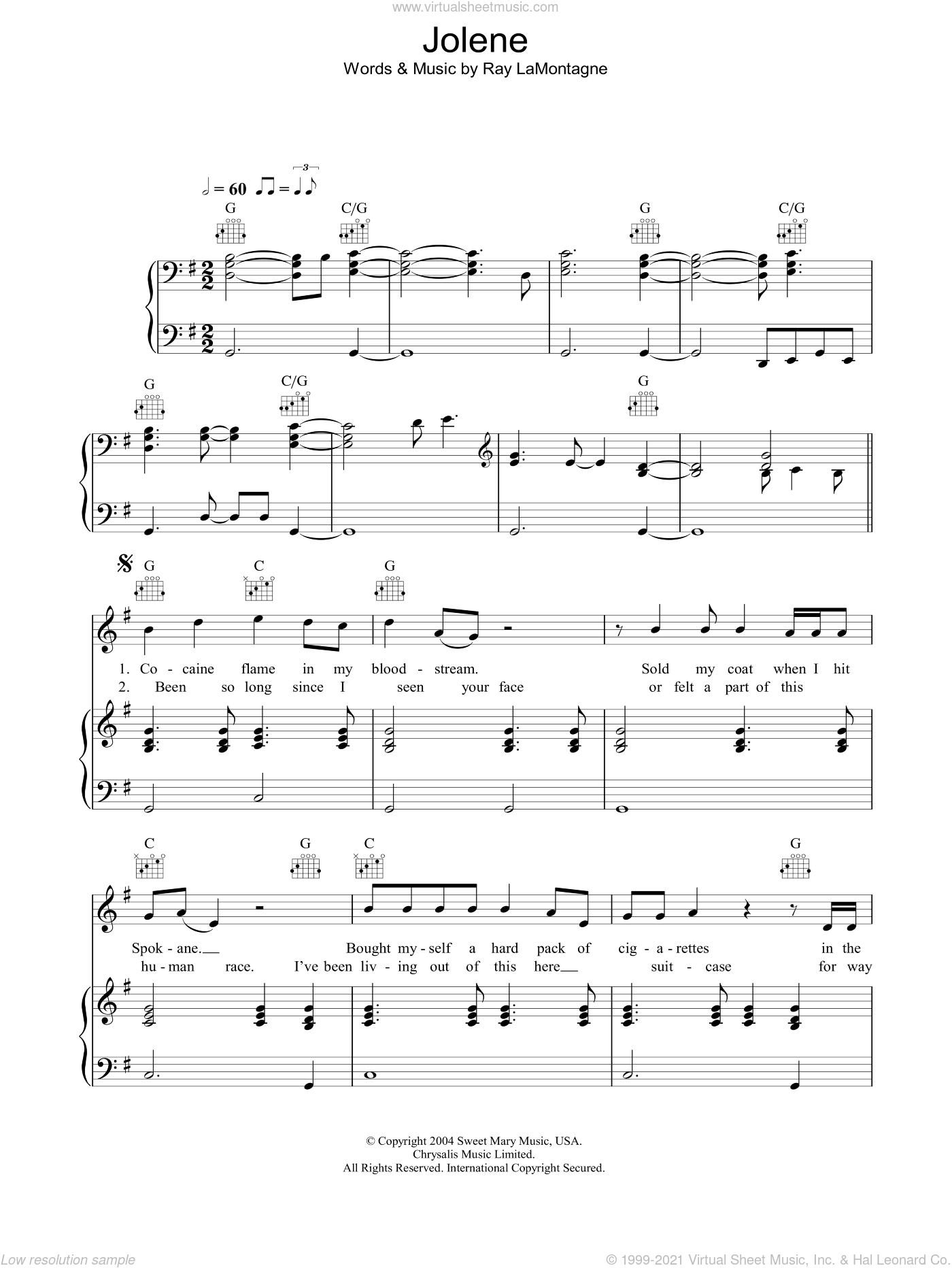 Lamontagne Jolene Sheet Music For Voice Piano Or Guitar Pdf