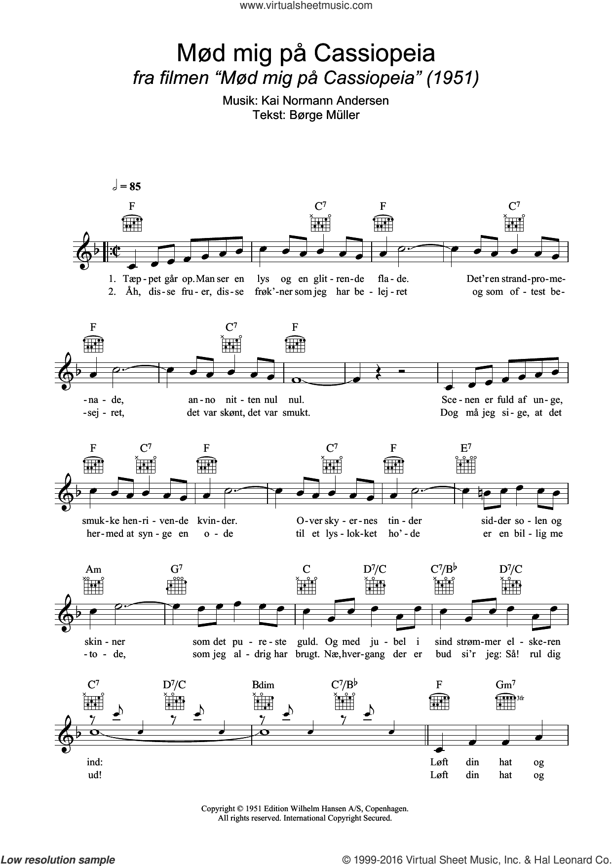 Loft Din Hat Og Sving Din Stok sheet music for voice and other instruments (fake book) by Børge Müller and Kai Normann Andersen. Score Image Preview.