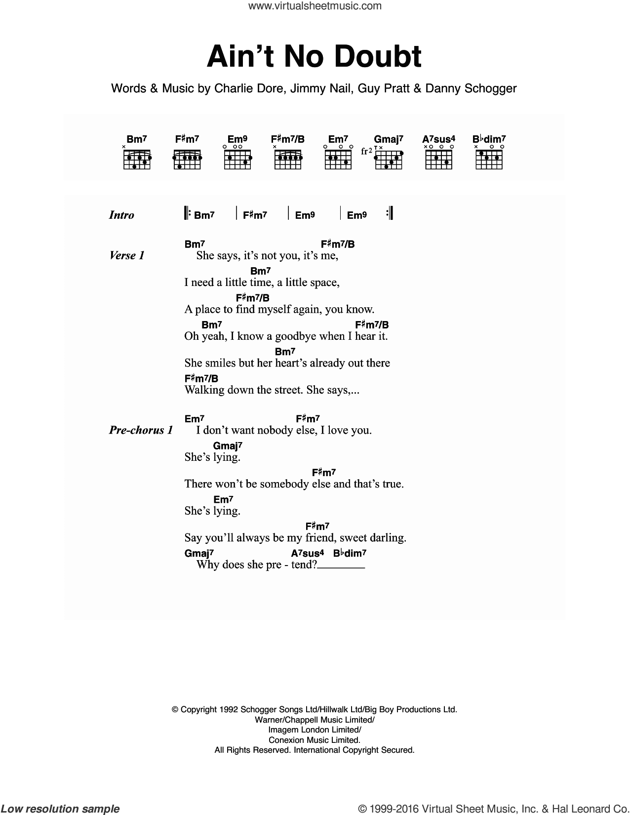 Nail Aint No Doubt Sheet Music For Guitar Chords Pdf