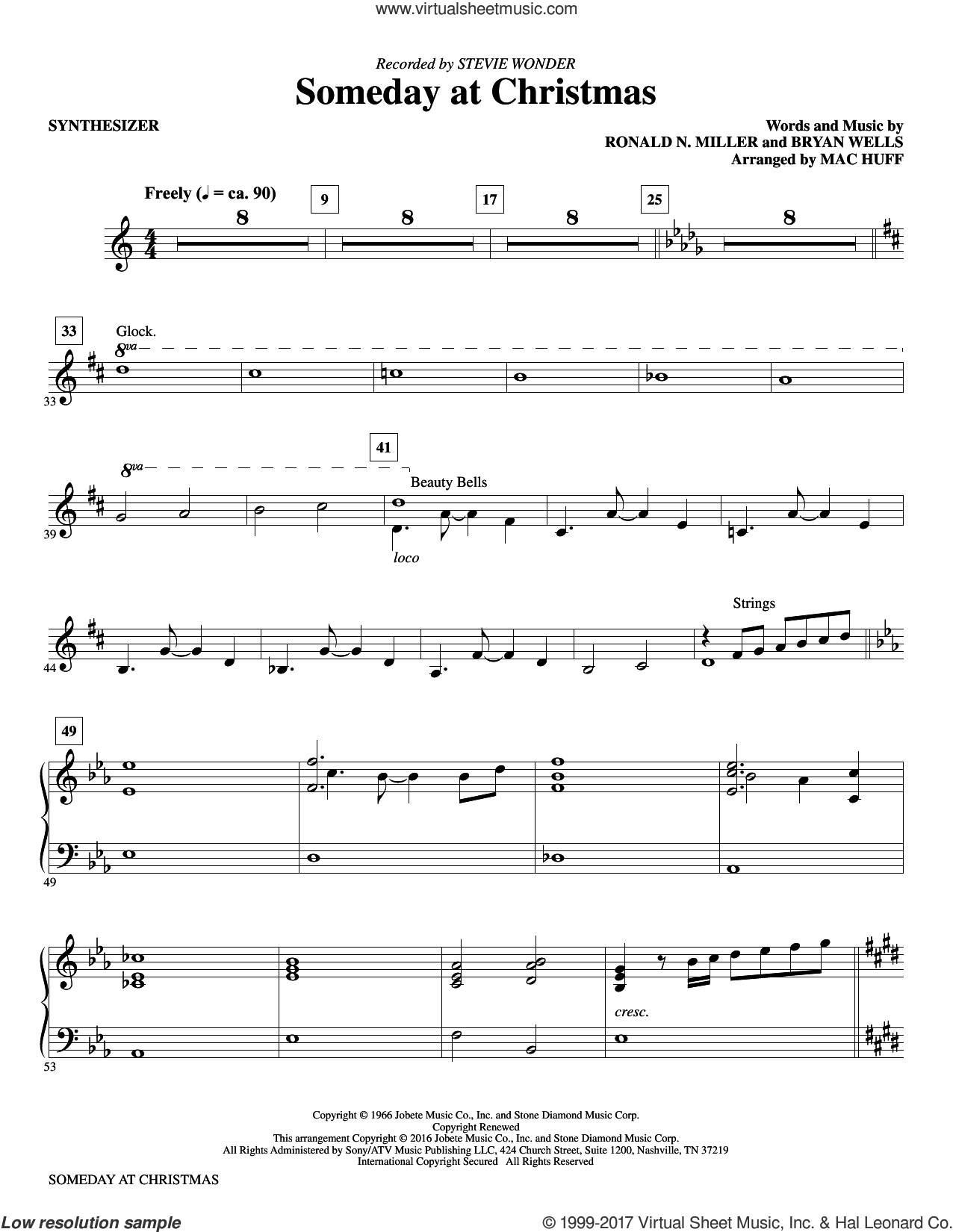 Someday at Christmas (complete set of parts) sheet music for orchestra/band by Mac Huff, Bryan Wells and Ronald N. Miller, intermediate skill level