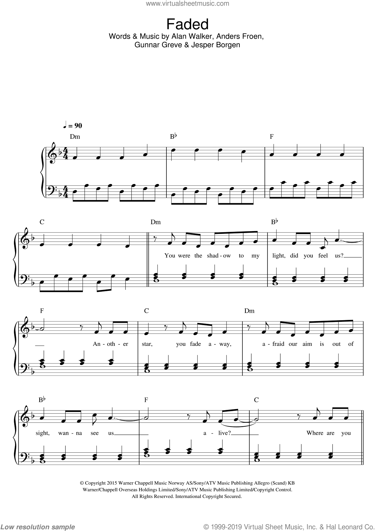 photograph relating to All of Me Easy Piano Sheet Music Free Printable called Walker - Light sheet audio for piano solo [PDF-interactive]