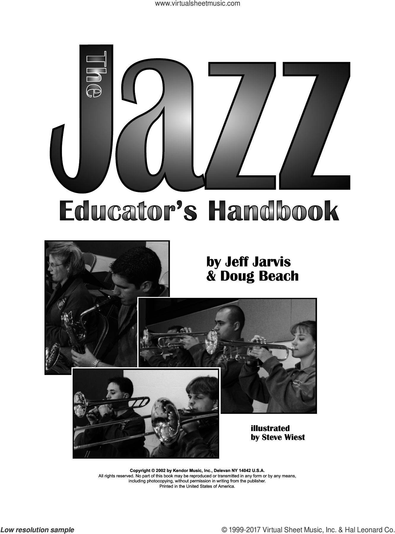 The Jazz Educator's Handbook (complete set of parts) sheet music for wind and brass instruments by Doug Beach and Jeff Jarvis, Doug Beach and Jeff Jarvis, intermediate. Score Image Preview.