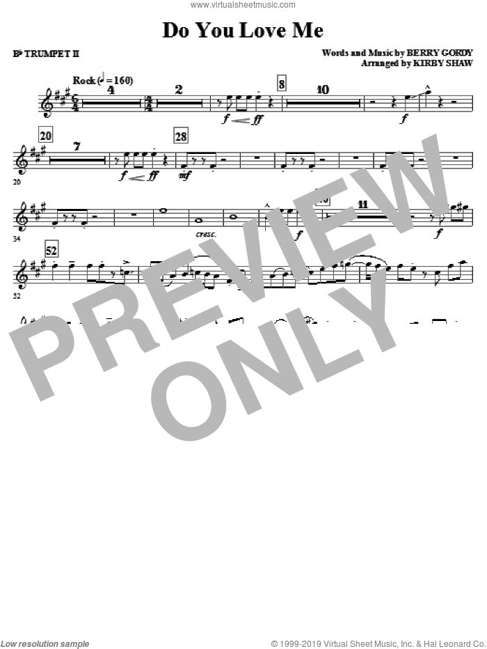 Do You Love Me (complete set of parts) sheet music for orchestra/band by Kirby Shaw, Berry Gordy and The Contours, intermediate skill level