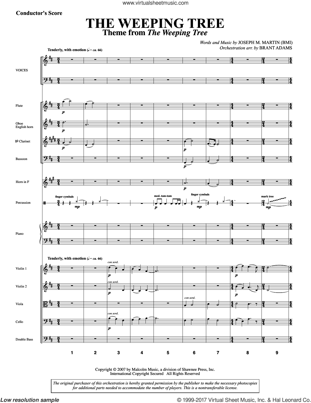 The Weeping Tree (COMPLETE) sheet music for orchestra/band by Joseph M. Martin, intermediate skill level