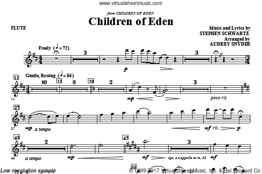 Children of Eden (COMPLETE) sheet music for orchestra by Stephen Schwartz