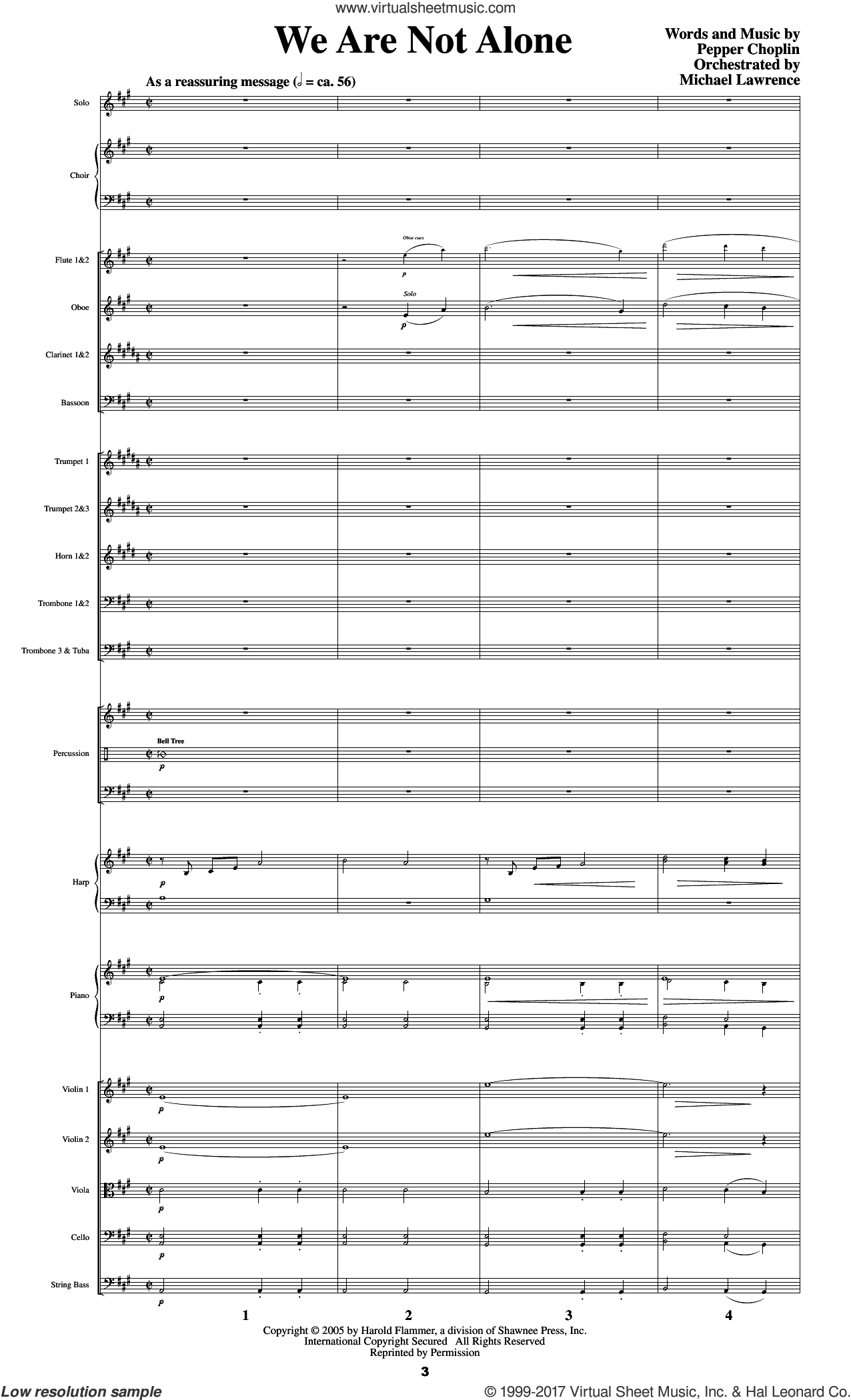 Psalm 23, a journey with the shepherd sheet music for orchestra/band (score) by Pepper Choplin. Score Image Preview.