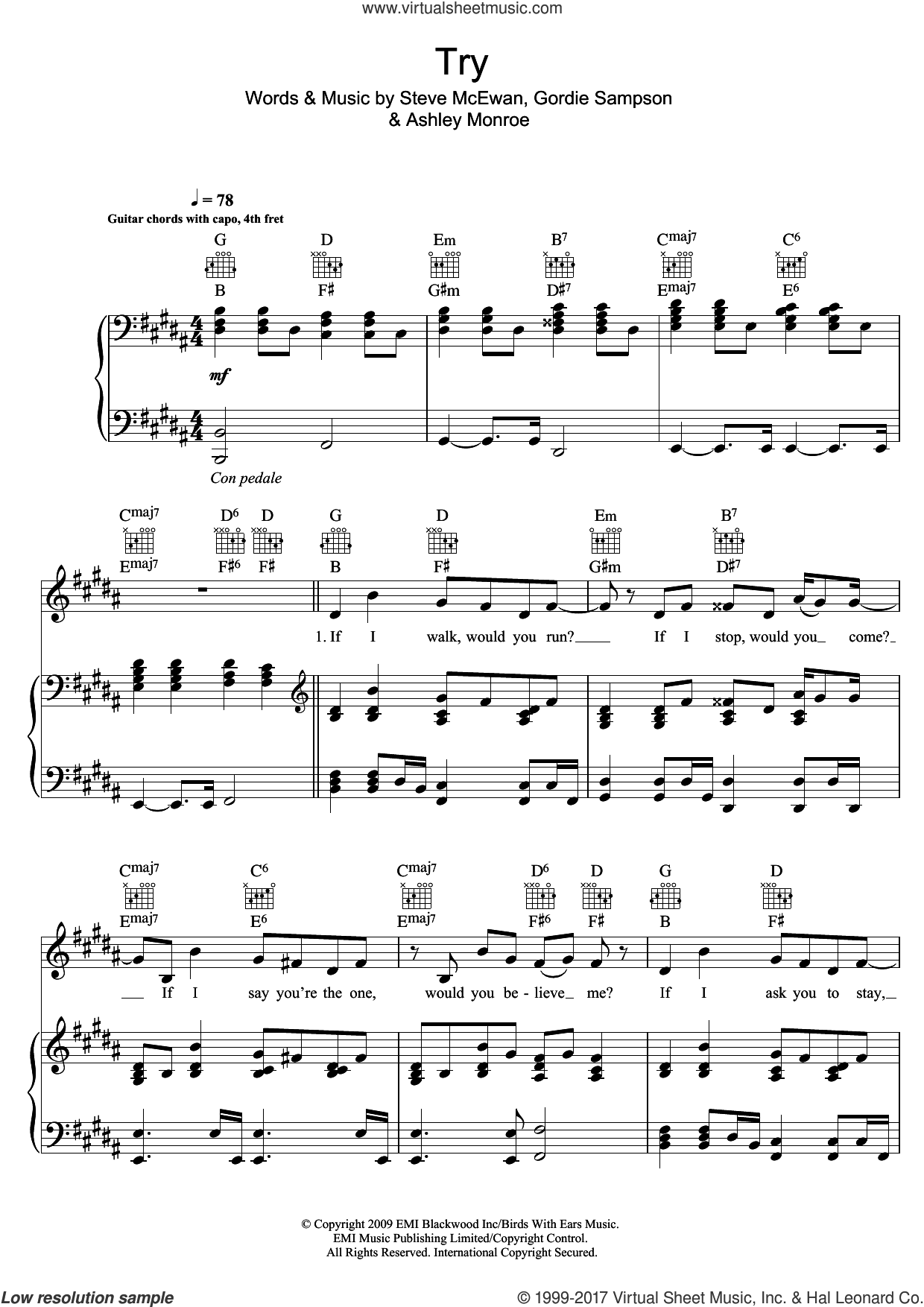 Try sheet music for voice, piano or guitar by Asher Monroe, intermediate skill level