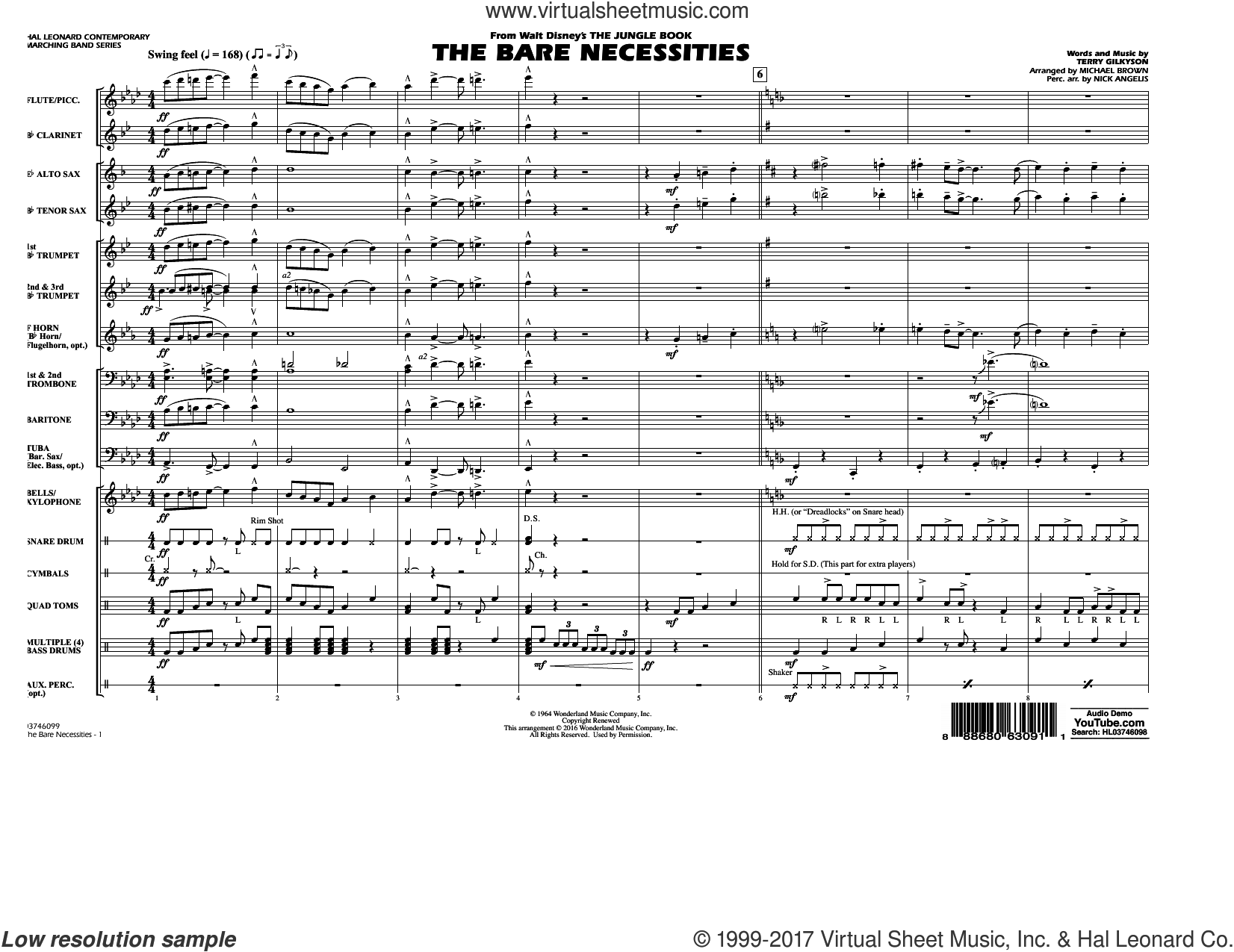 3455daf474a The Bare Necessities (from The Jungle Book) (COMPLETE) sheet music for  marching