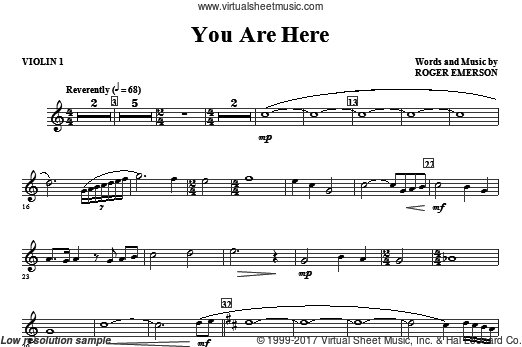 You Are Here (COMPLETE) sheet music for orchestra by Roger Emerson
