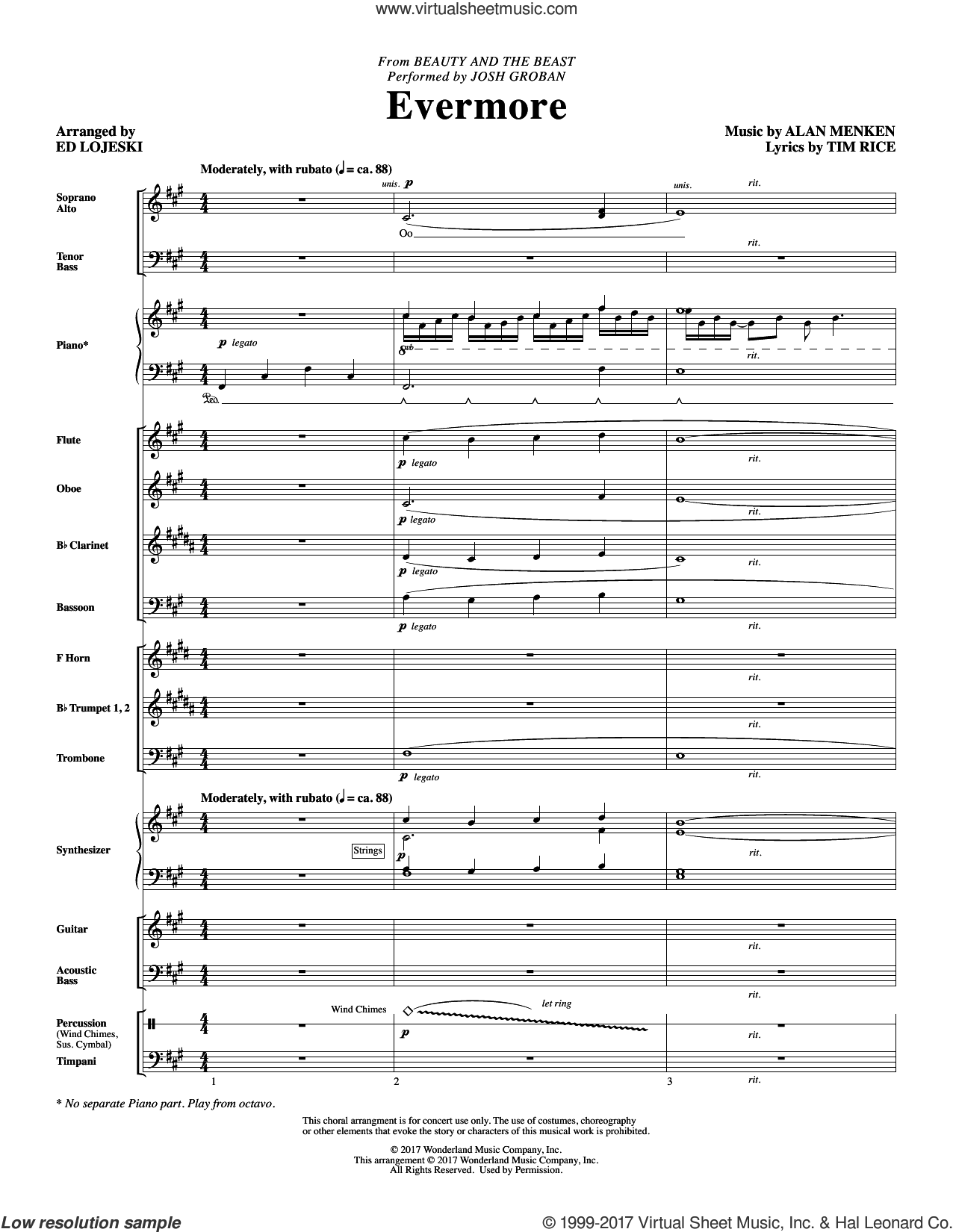 evermore sheet music pdf free