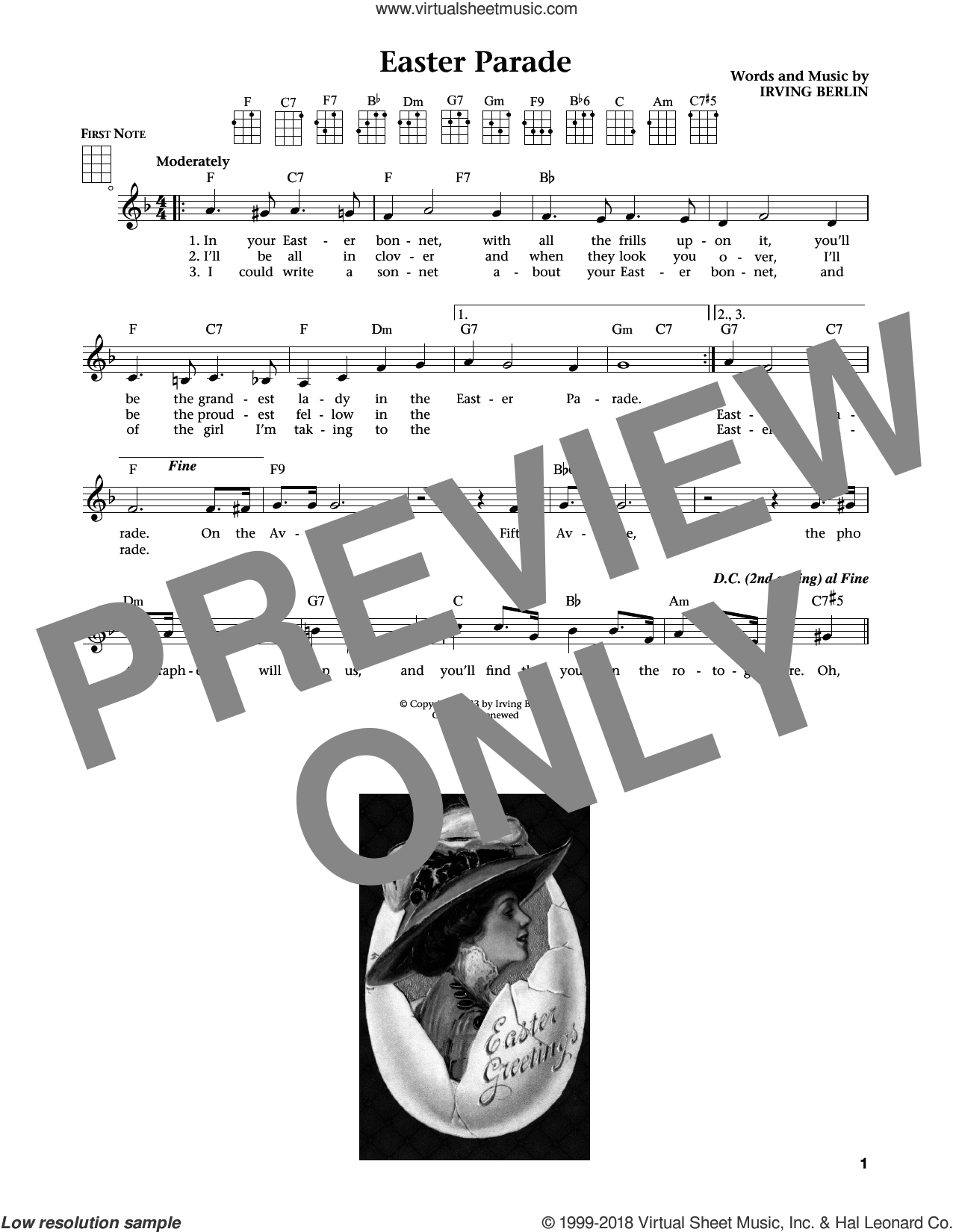 Easter Parade (from The Daily Ukulele) (arr. Liz and Jim Beloff) sheet music for ukulele by Irving Berlin, Jim Beloff and Liz Beloff, intermediate skill level