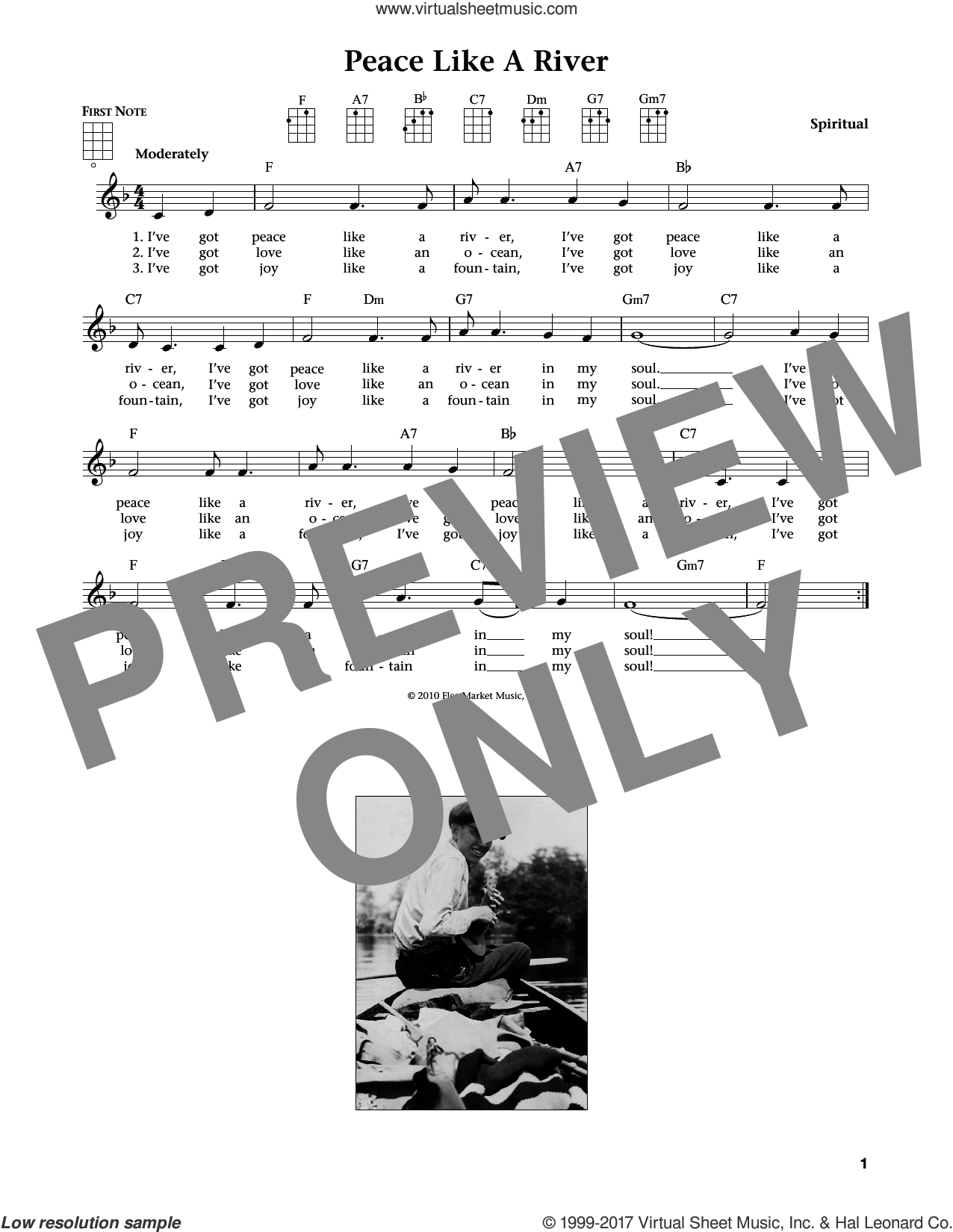 I've Got Peace Like A River (from The Daily Ukulele) (arr. Liz and Jim Beloff) sheet music for ukulele , Jim Beloff and Liz Beloff, intermediate skill level