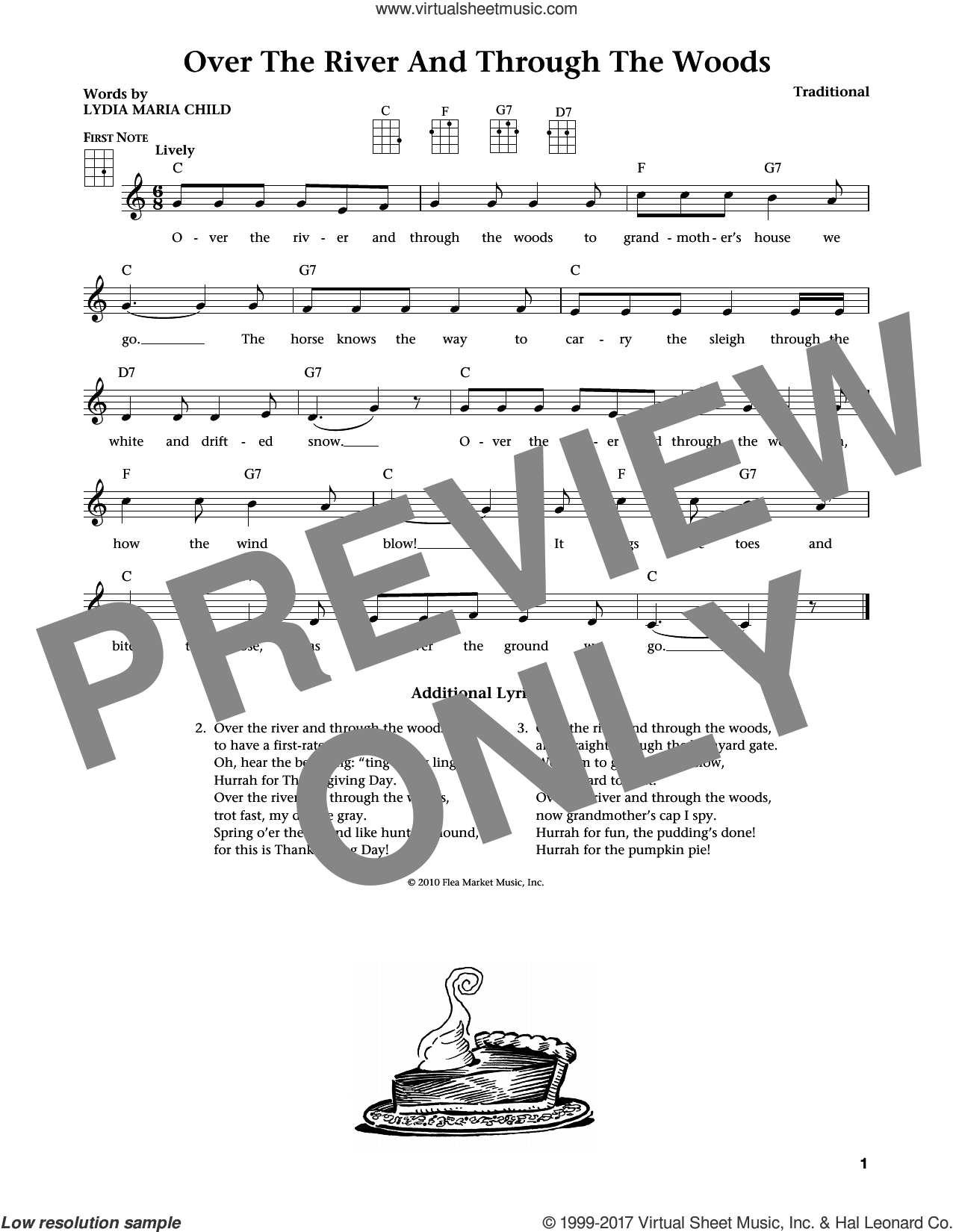 Over The River And Through The Woods (from The Daily Ukulele) (arr. Liz and Jim Beloff) sheet music for ukulele , Jim Beloff and Liz Beloff, intermediate skill level