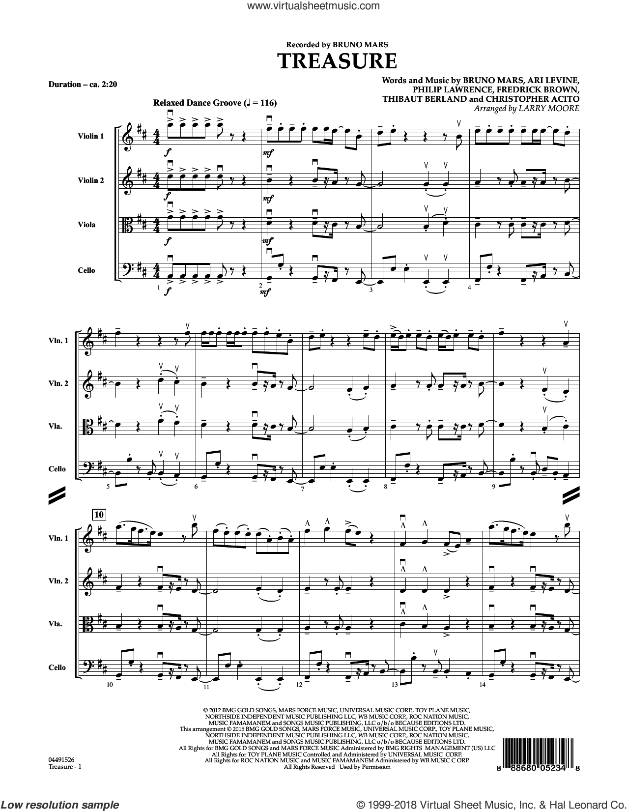 Mars Treasure Sheet Music For Orchestra Pdf