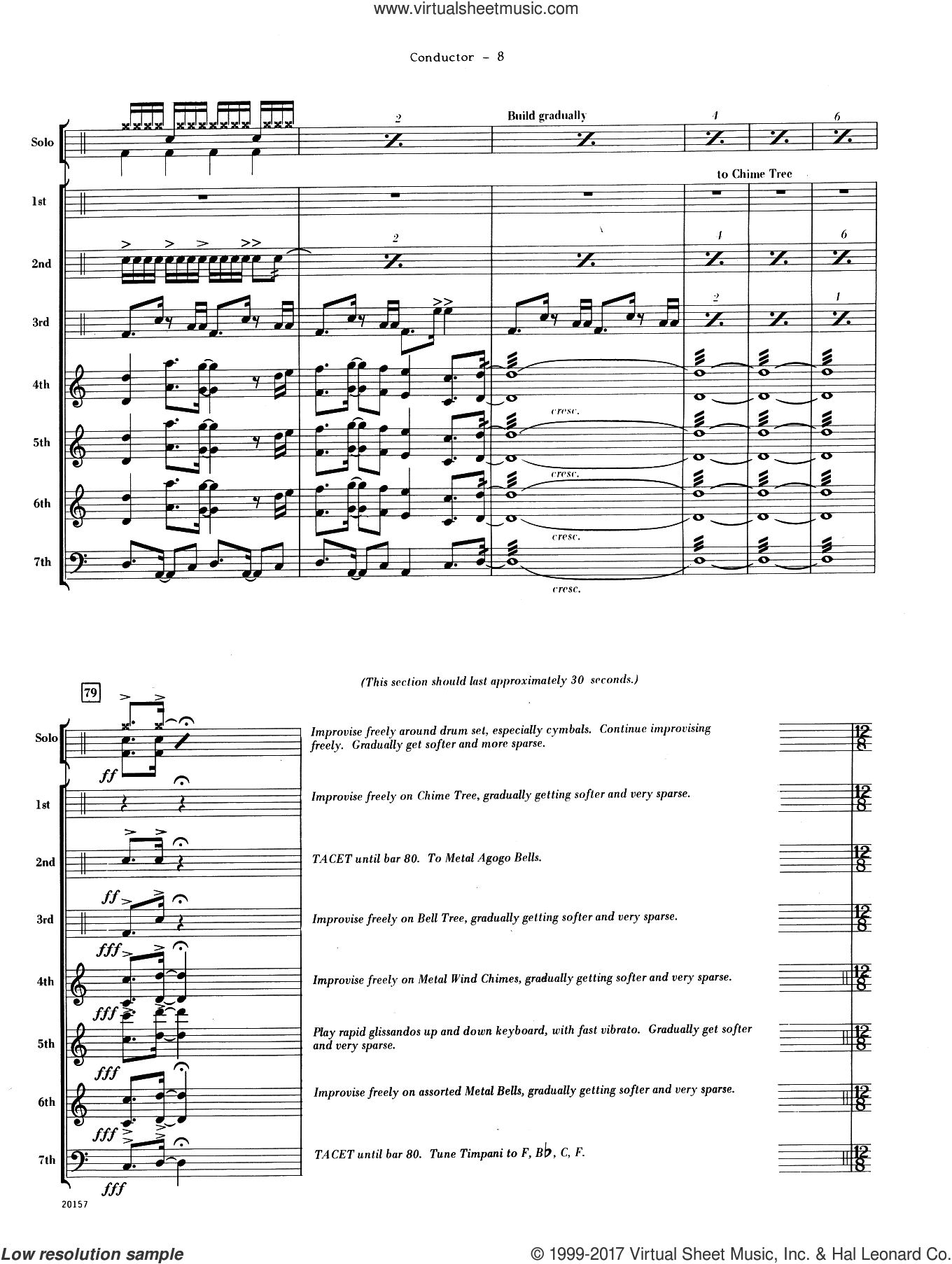 Suite For Solo Drum Set and Percussion Ensemble (COMPLETE) sheet music for percussions by Dave Mancini, intermediate percussions. Score Image Preview.