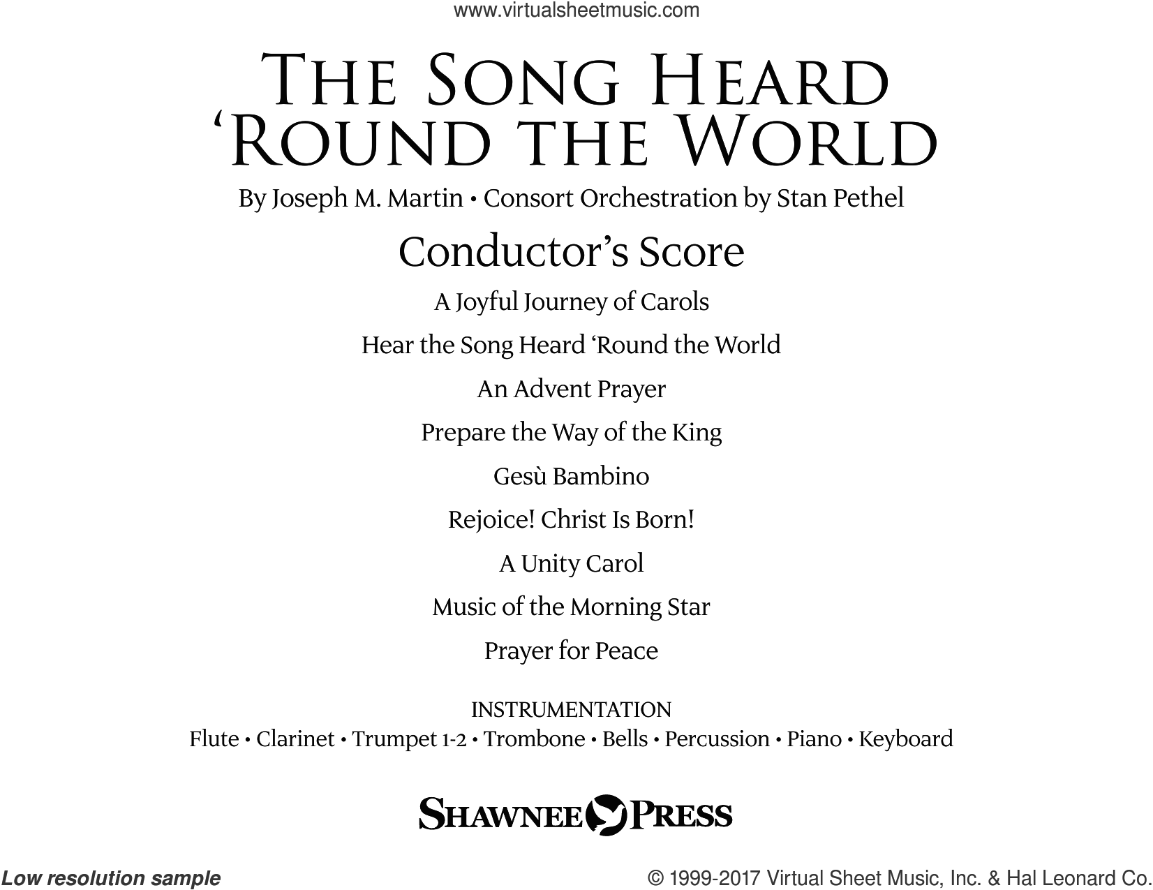 The Song Heard 'Round the World (COMPLETE) sheet music for orchestra/band by Joseph M. Martin, Jonathan Martin and Traditional Finnish Folk Melod, intermediate skill level