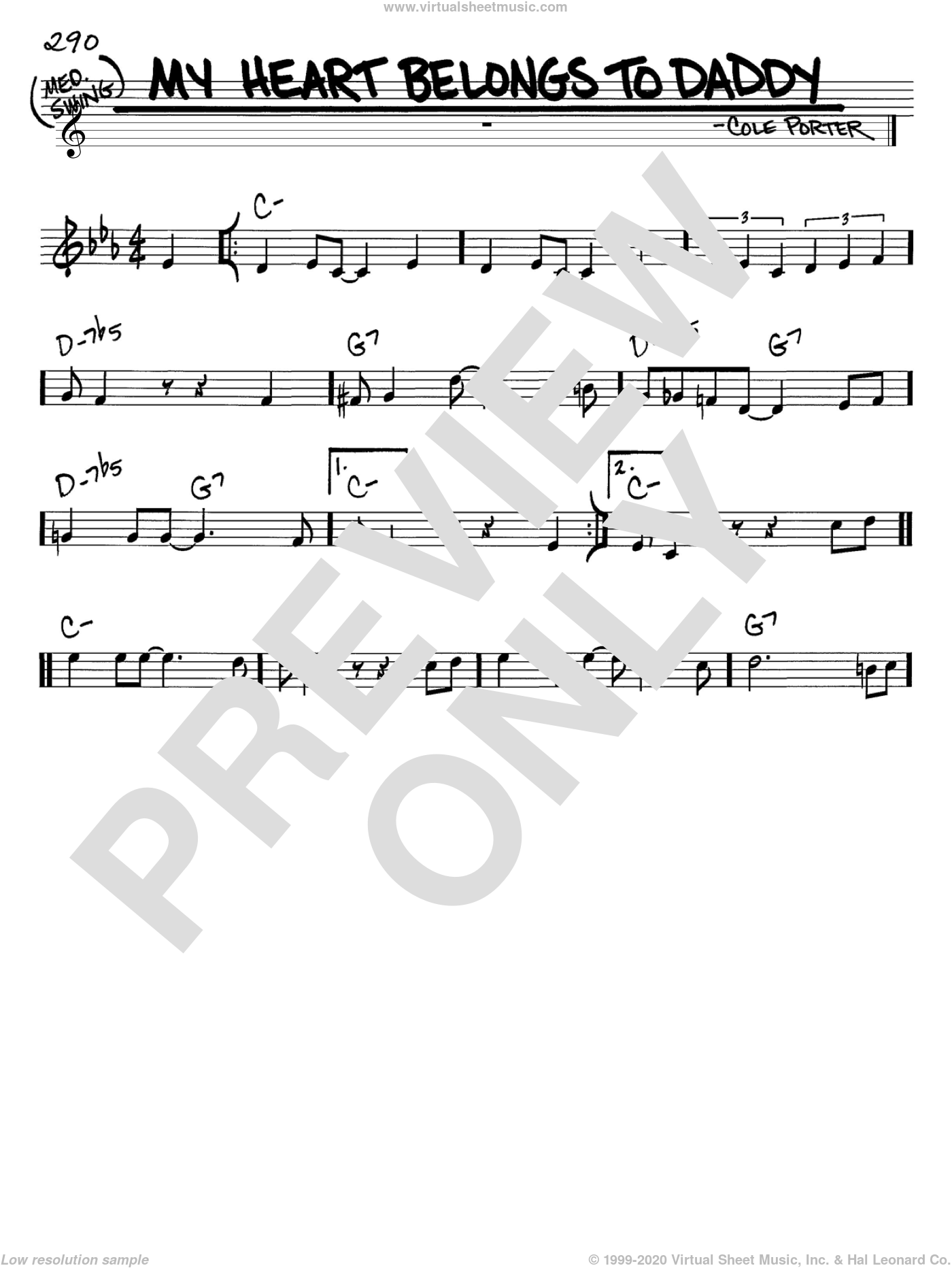 My Heart Belongs To Daddy sheet music for voice and other instruments (C) by Cole Porter. Score Image Preview.