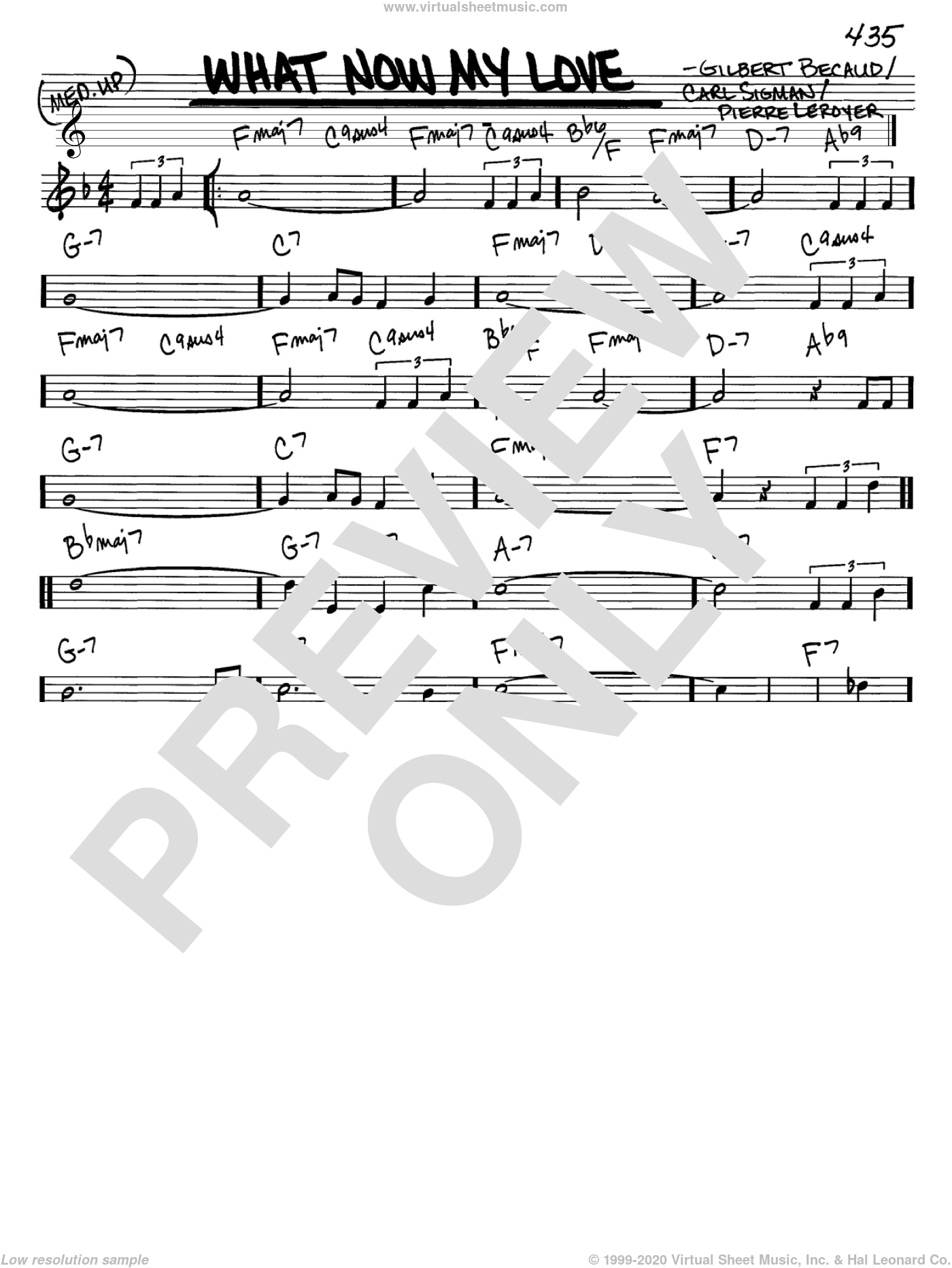 What Now My Love sheet music for voice and other instruments (C) by Pierre Delanoe