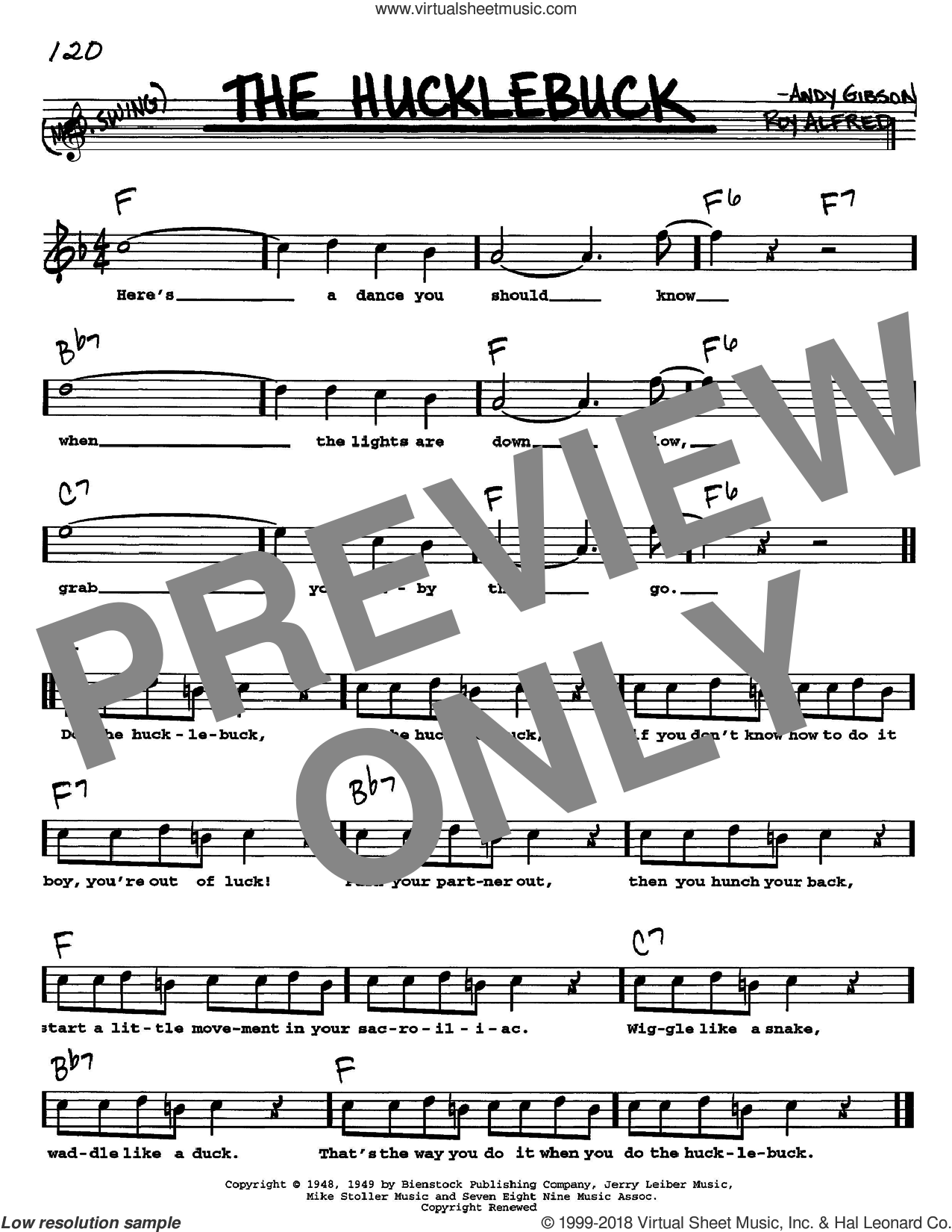 The Hucklebuck sheet music for voice and other instruments (Vocal Volume 1) by Andy Gibson