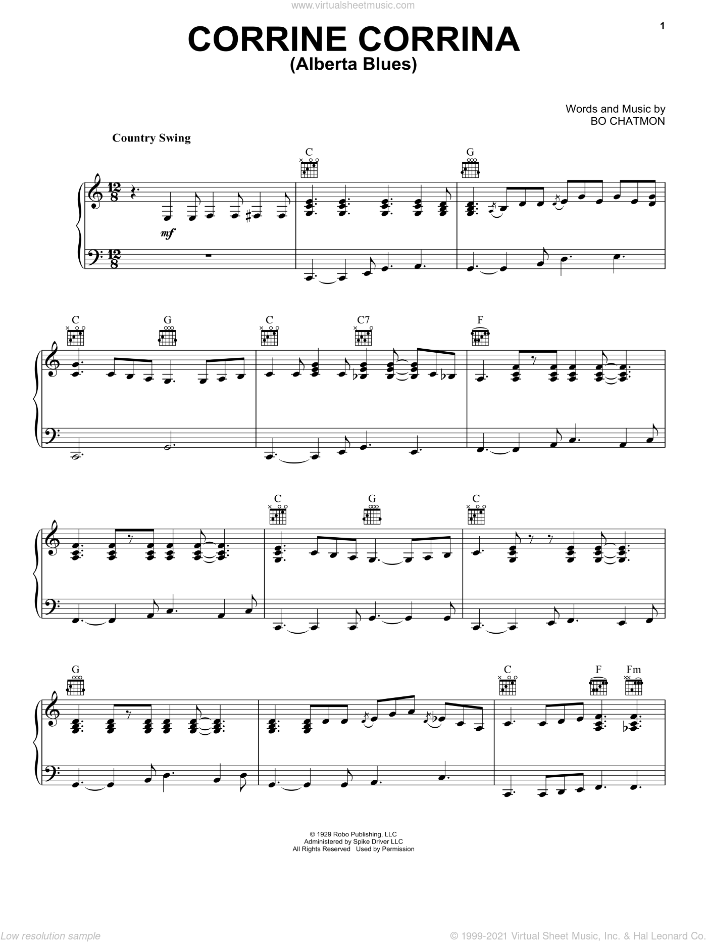 Alberta sheet music for voice, piano or guitar by Eric Clapton and Huddie Ledbetter, intermediate skill level