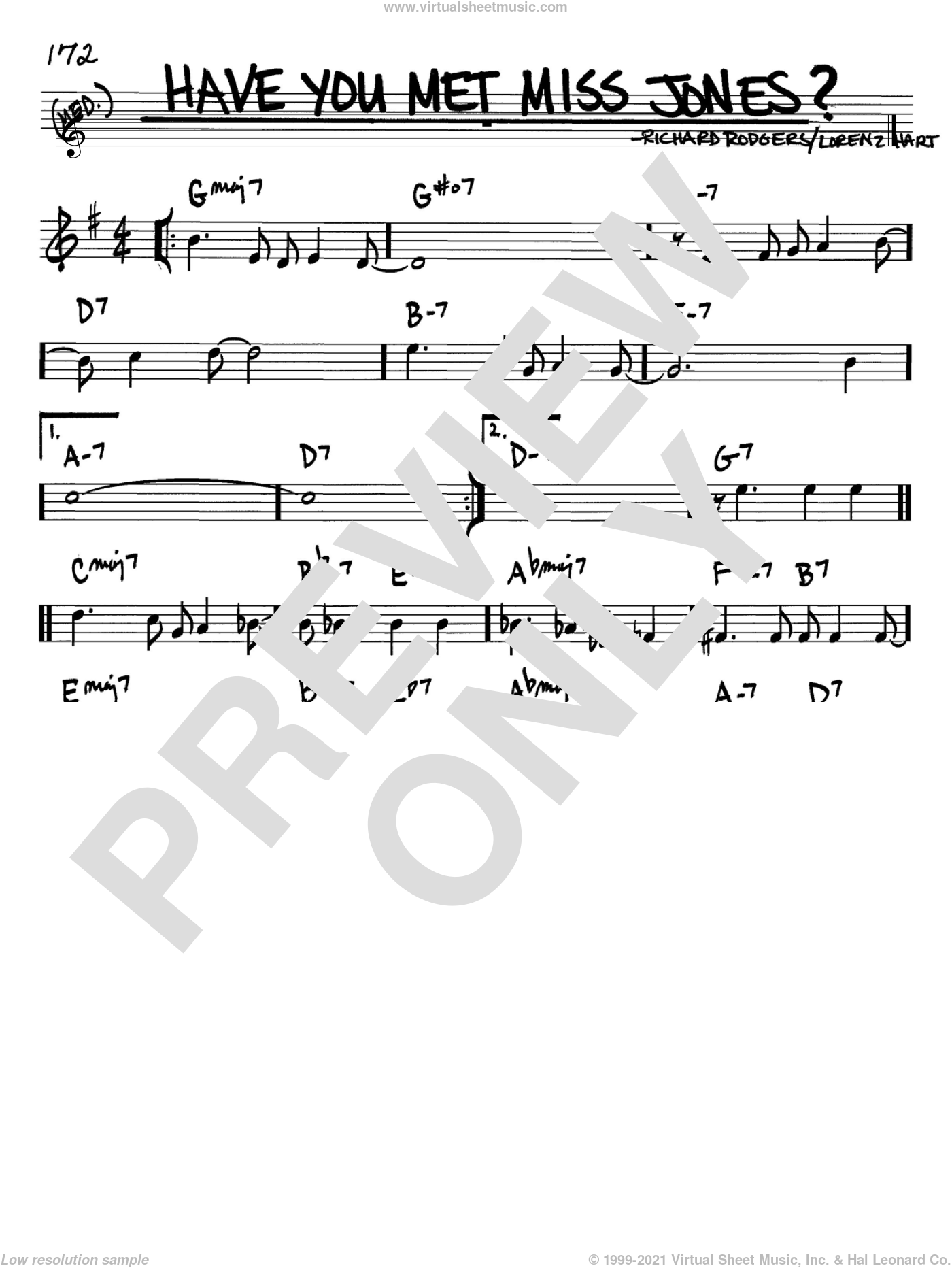 Have You Met Miss Jones? sheet music for voice and other instruments (in Bb) by Rodgers & Hart, Lorenz Hart and Richard Rodgers, intermediate skill level