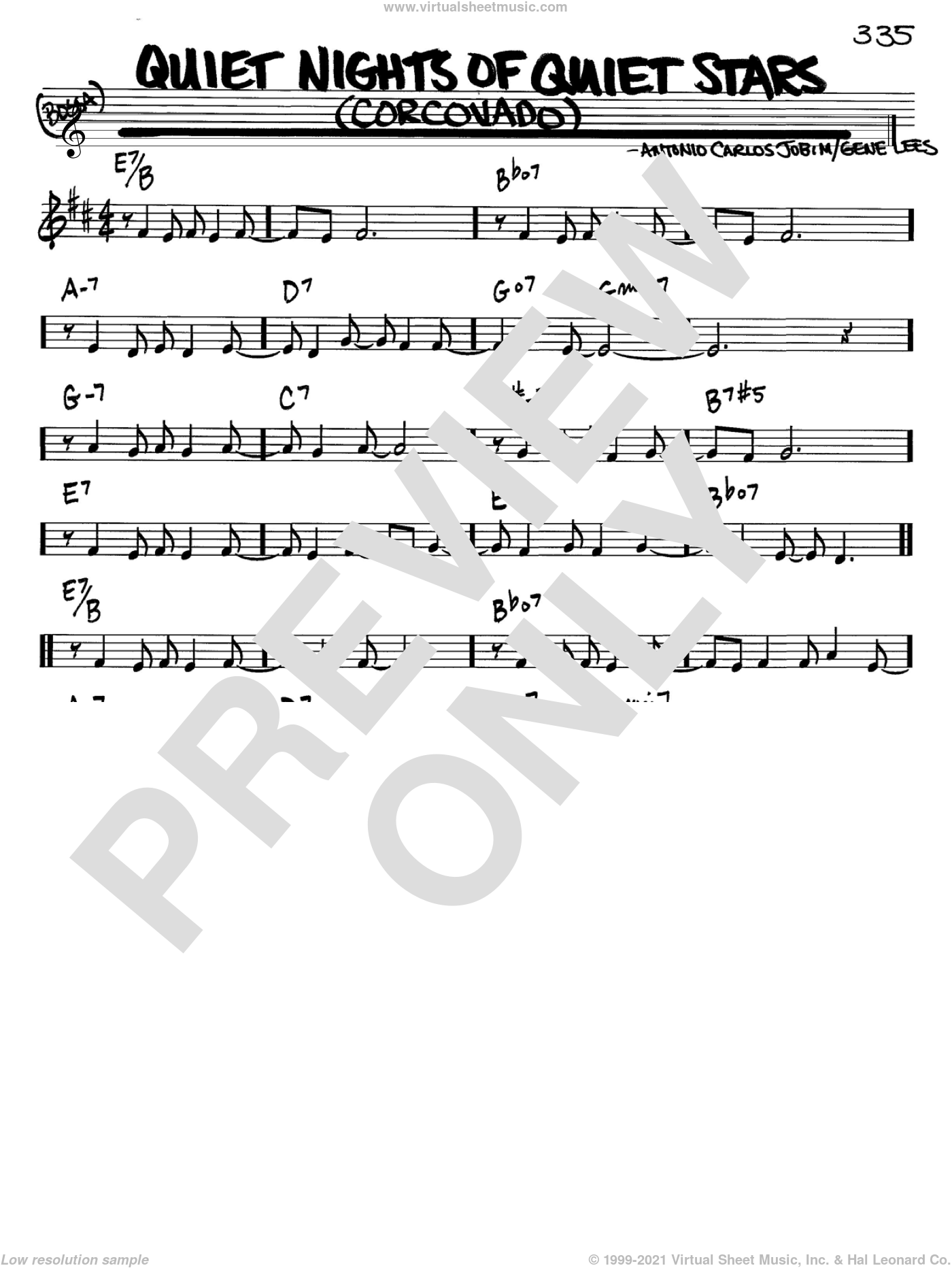 Quiet Nights Of Quiet Stars (Corcovado) sheet music for voice and other instruments (in Bb) by Antonio Carlos Jobim and Andy Williams, intermediate