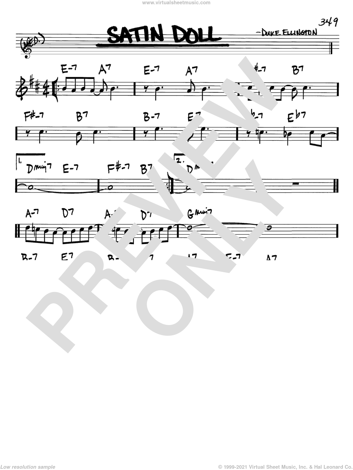Satin Doll sheet music for voice and other instruments (Bb) by Duke Ellington, Billy Strayhorn and Johnny Mercer. Score Image Preview.