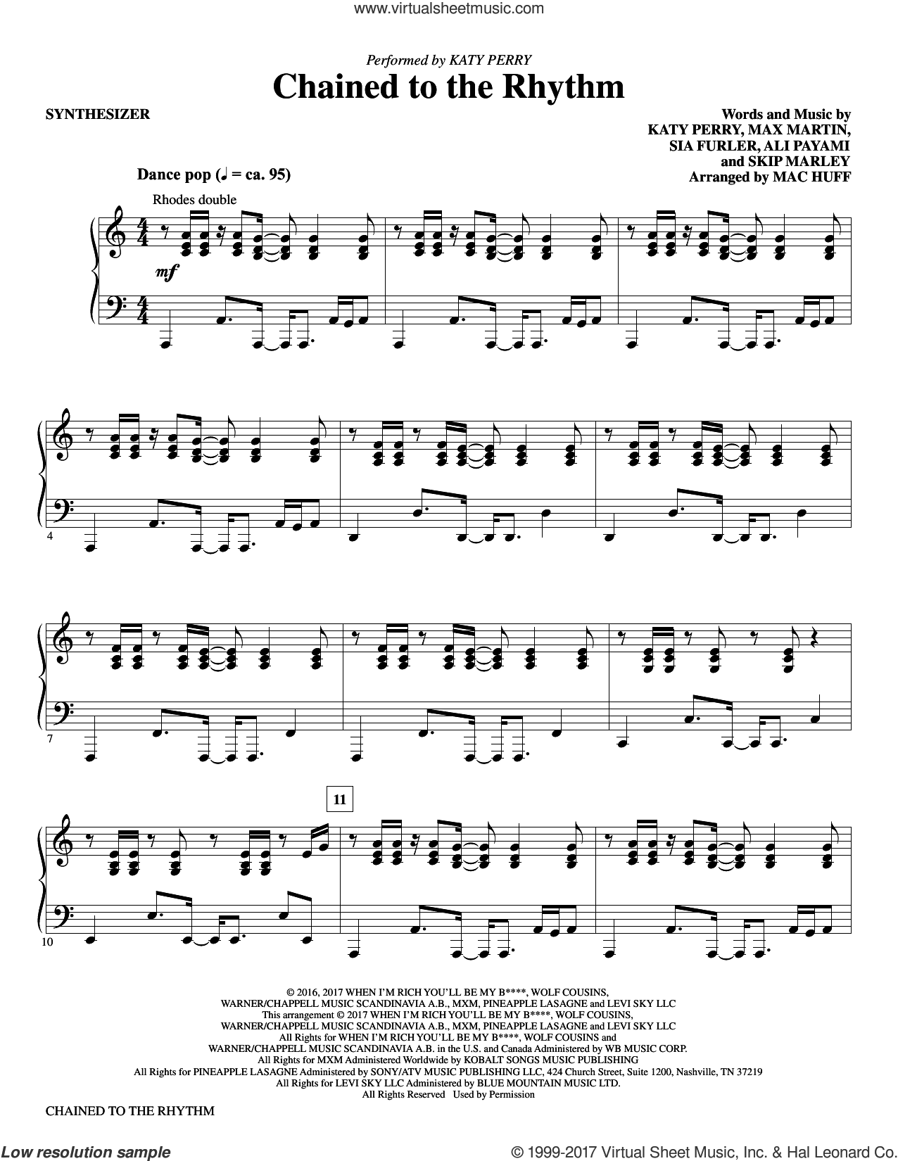Huff Chained To The Rhythm Complete Set Of Parts Sheet Music For Orchestra Band