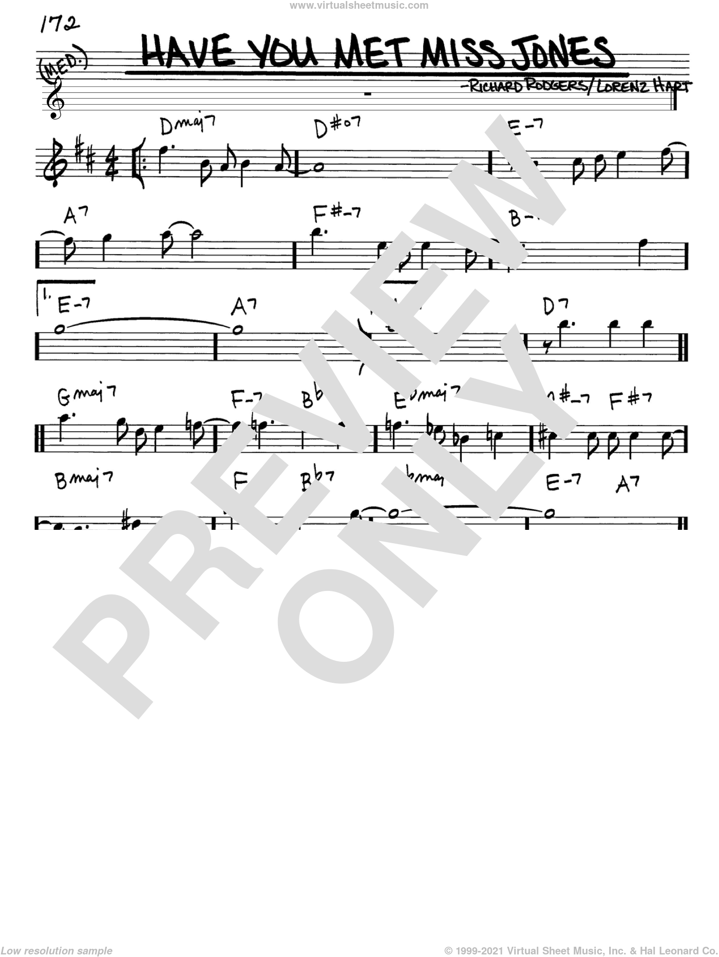 Have You Met Miss Jones? sheet music for voice and other instruments (in Eb) by Rodgers & Hart, Lorenz Hart and Richard Rodgers, intermediate skill level