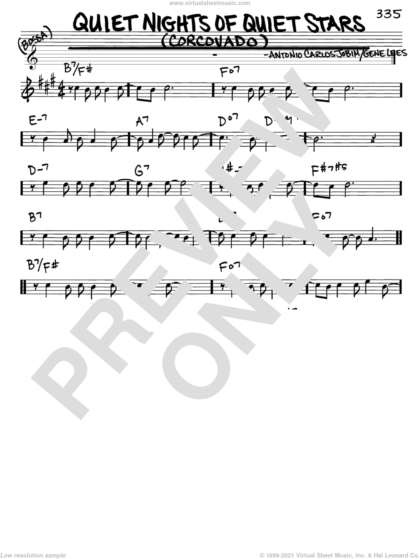 Quiet Nights Of Quiet Stars (Corcovado) sheet music for voice and other instruments (Eb) by Antonio Carlos Jobim and Andy Williams. Score Image Preview.