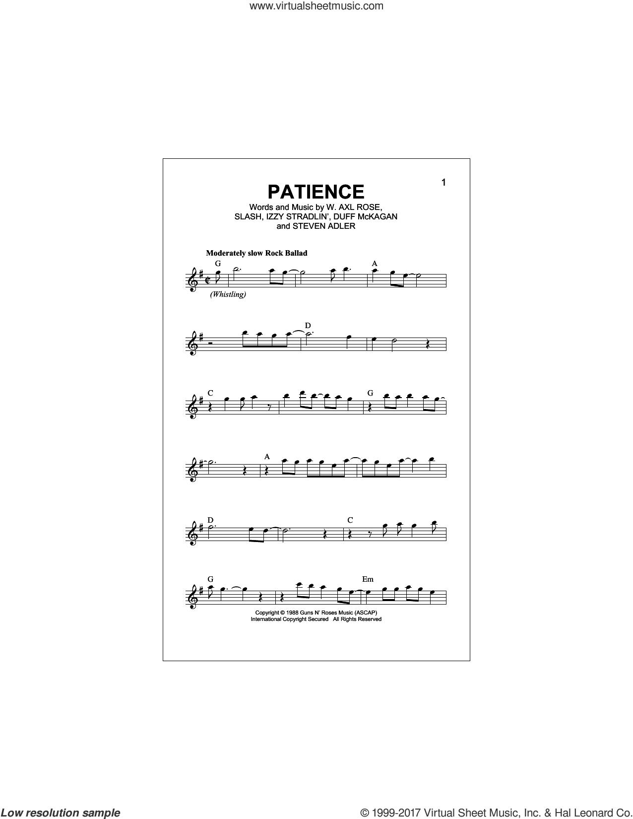 Roses Patience Sheet Music Fake Book Pdf