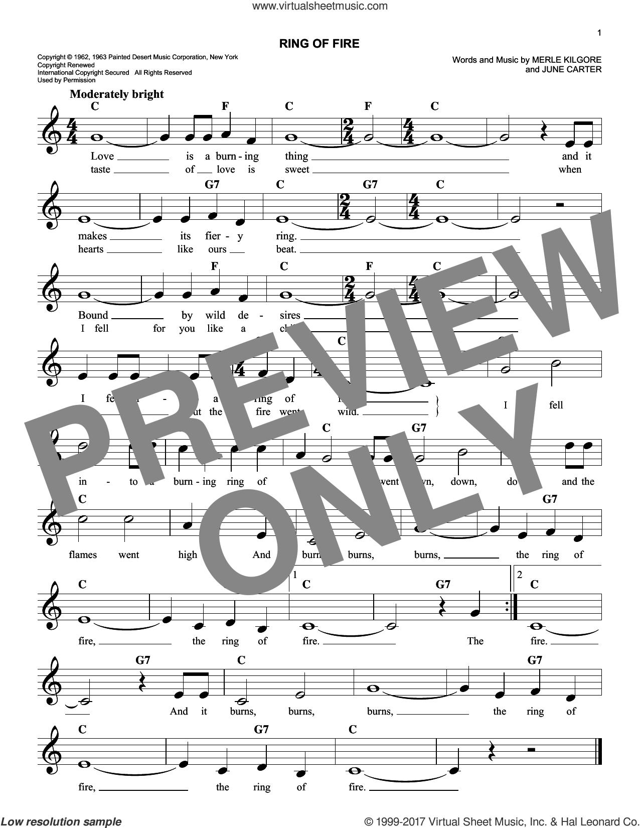Cash Ring Of Fire Sheet Music Fake Book Pdf