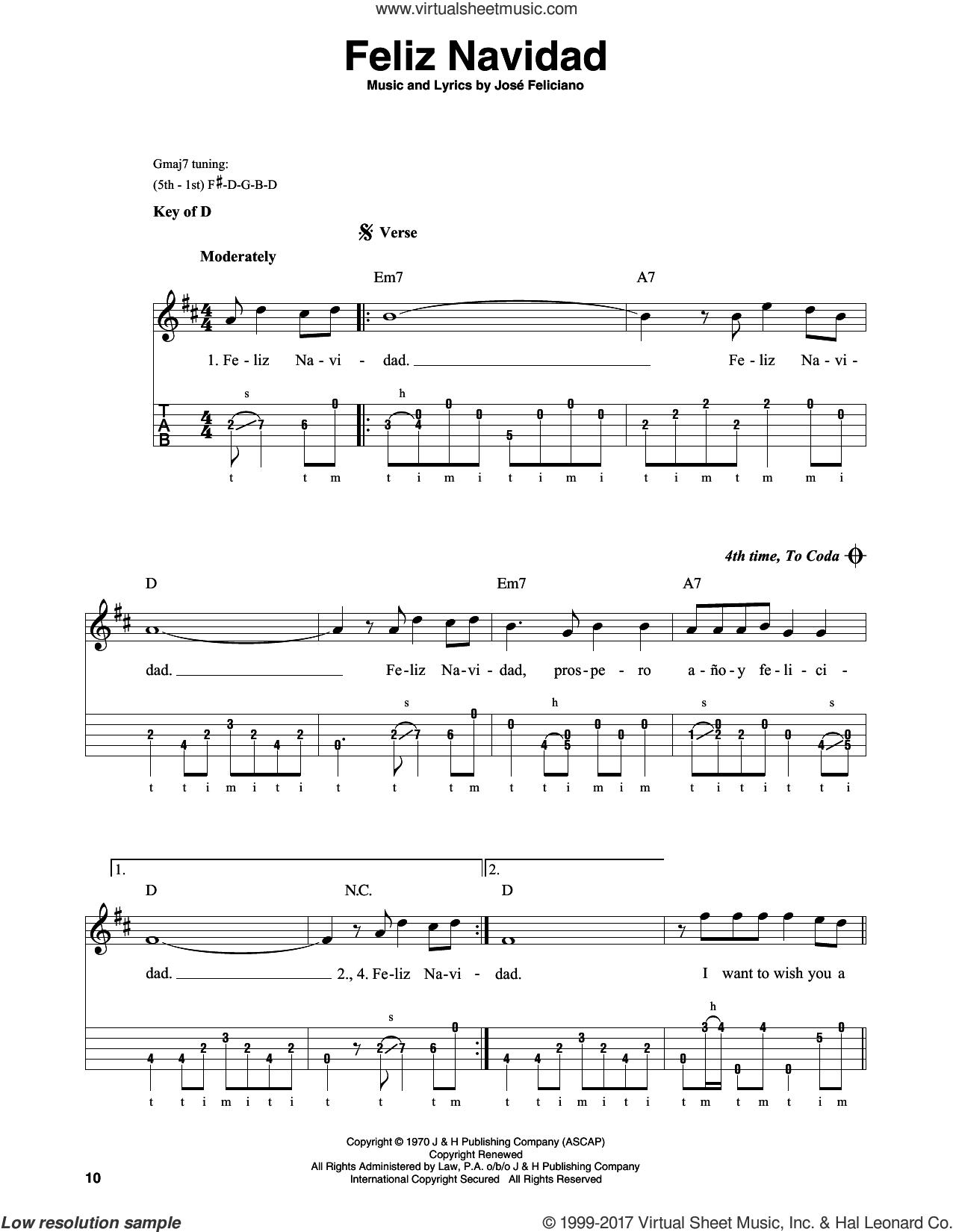 feliciano feliz navidad sheet music for banjo solo pdf feliciano feliz navidad sheet music for banjo solo pdf