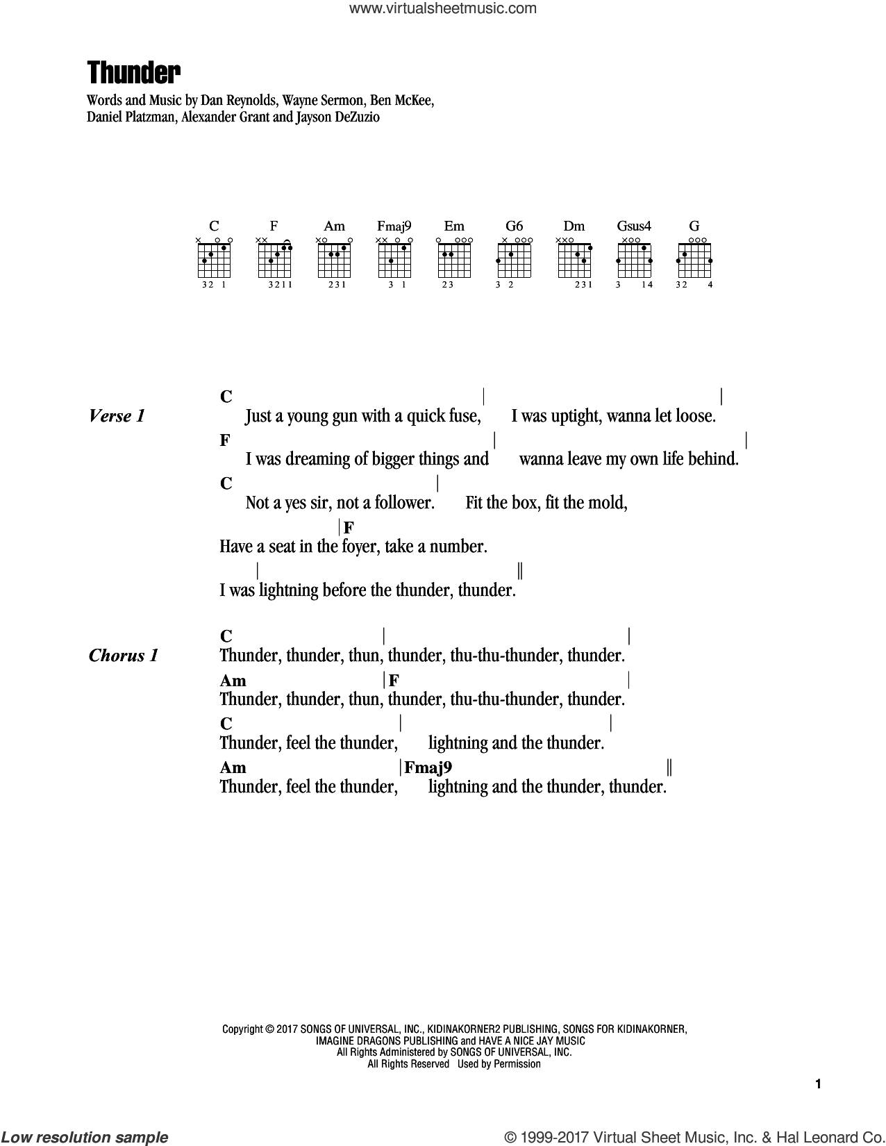 Dragons Thunder Sheet Music For Guitar Chords Pdf