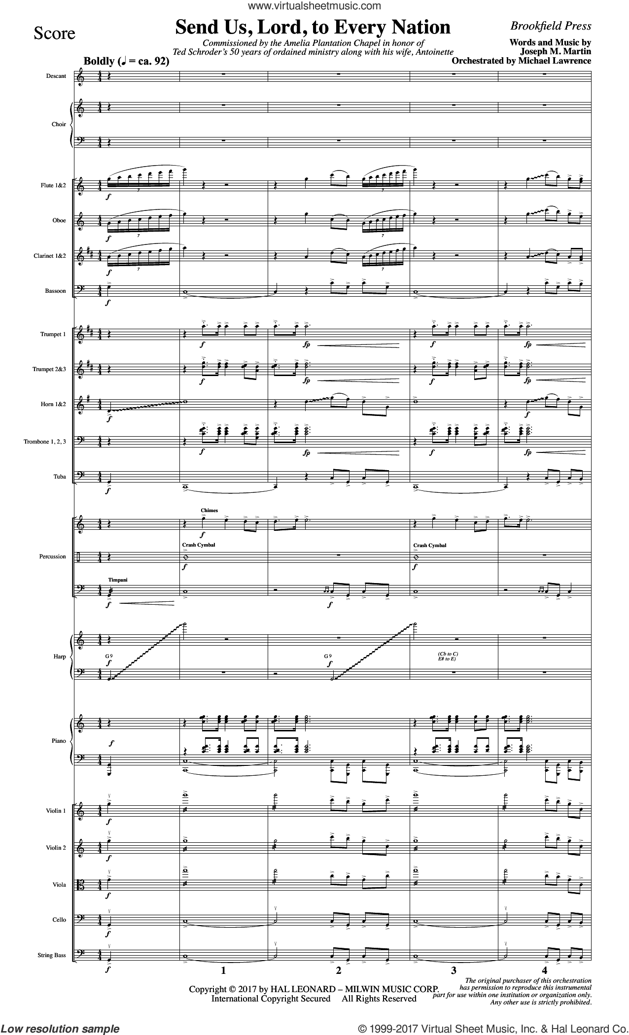 Send Us, Lord, to Every Nation (COMPLETE) sheet music for orchestra/band by Joseph M. Martin, intermediate skill level