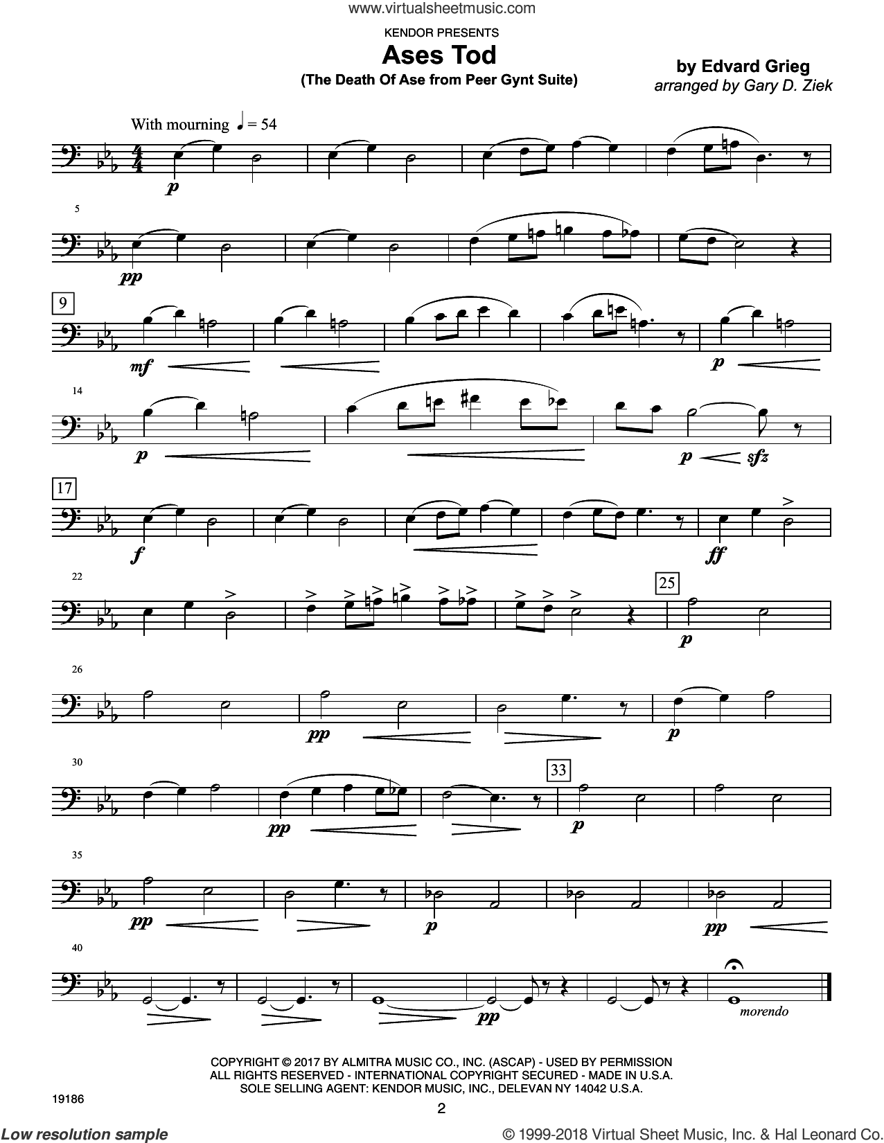 Classics For Brass Quintet - Trombone sheet music for brass quintet by Garry D. Ziek, intermediate skill level