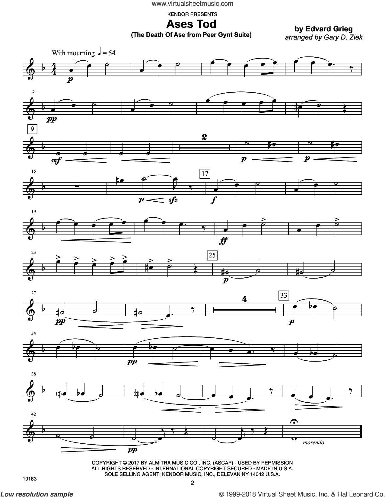 Classics For Brass Quintet - 1st Trumpet sheet music for brass quintet by Garry D. Ziek, intermediate skill level
