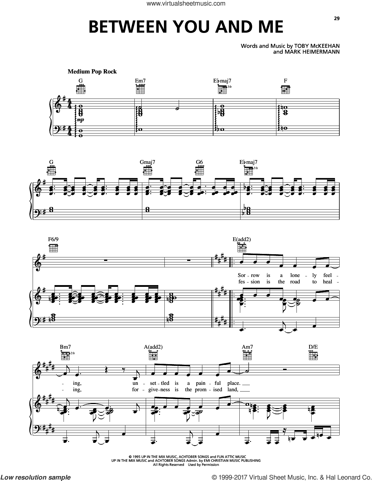 Talk Between You And Me Sheet Music For Voice Piano Or Guitar
