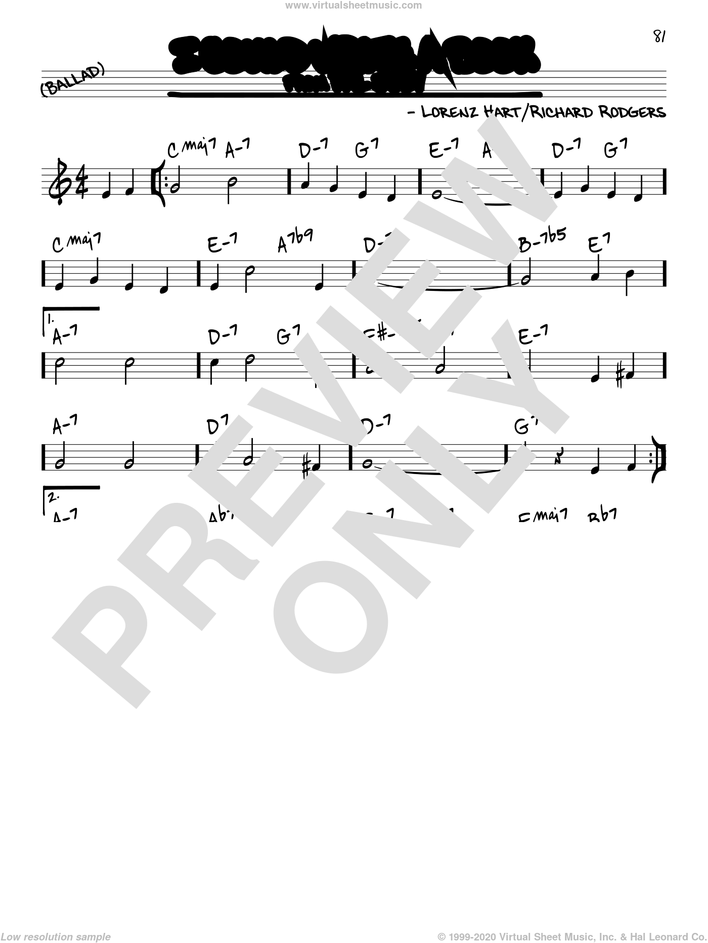 I Could Write A Book sheet music for voice and other instruments (real book) by Rodgers & Hart, Lorenz Hart and Richard Rodgers, intermediate skill level