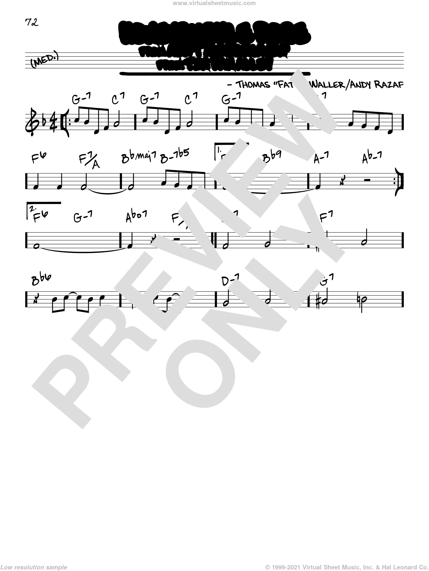 Honeysuckle Rose sheet music for voice and other instruments (real book) by Django Reinhardt, Andy Razaf and Thomas Waller, intermediate skill level