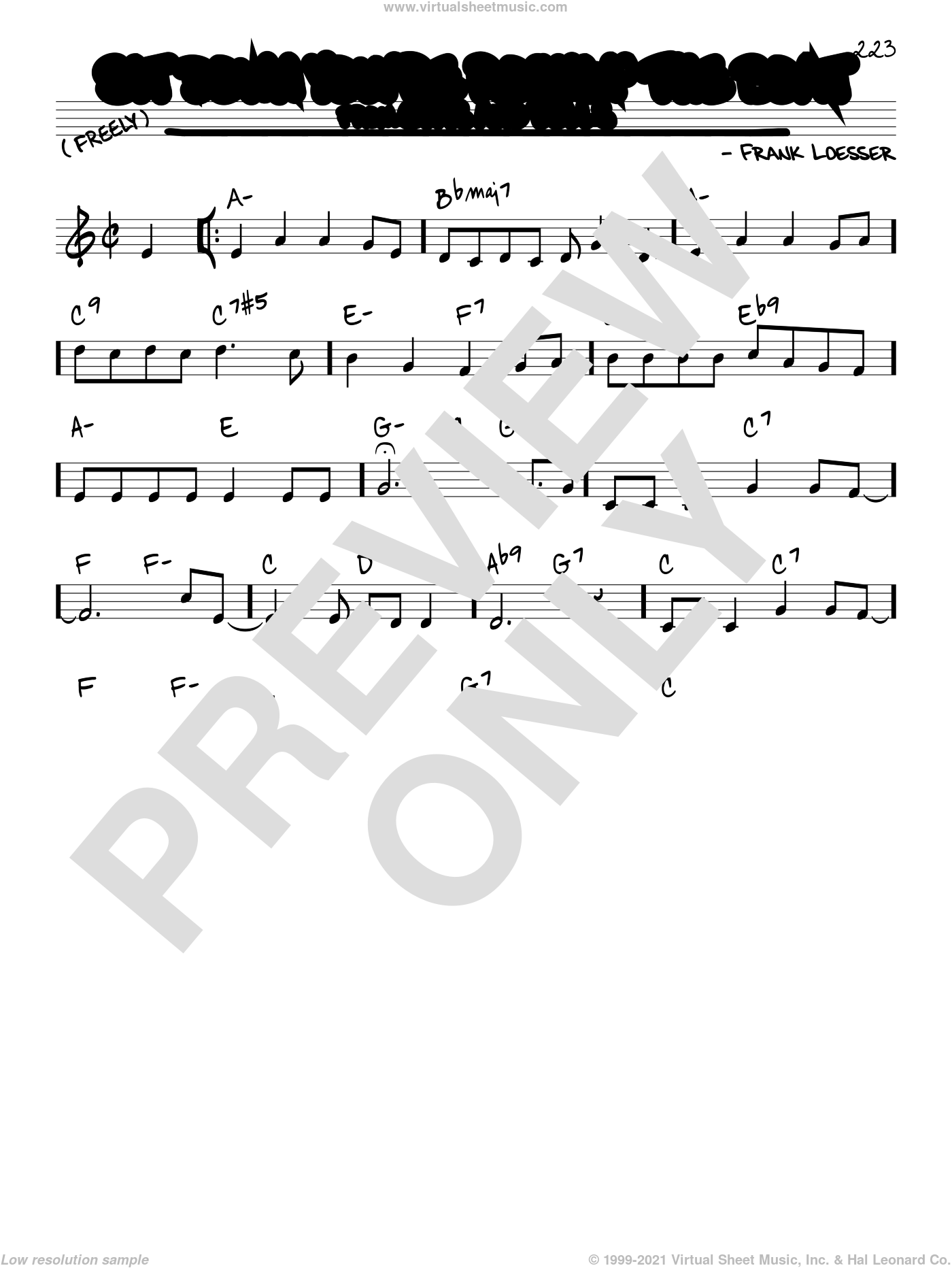 Sit Down You're Rockin' The Boat sheet music for voice and other instruments (real book) by Frank Loesser, intermediate skill level