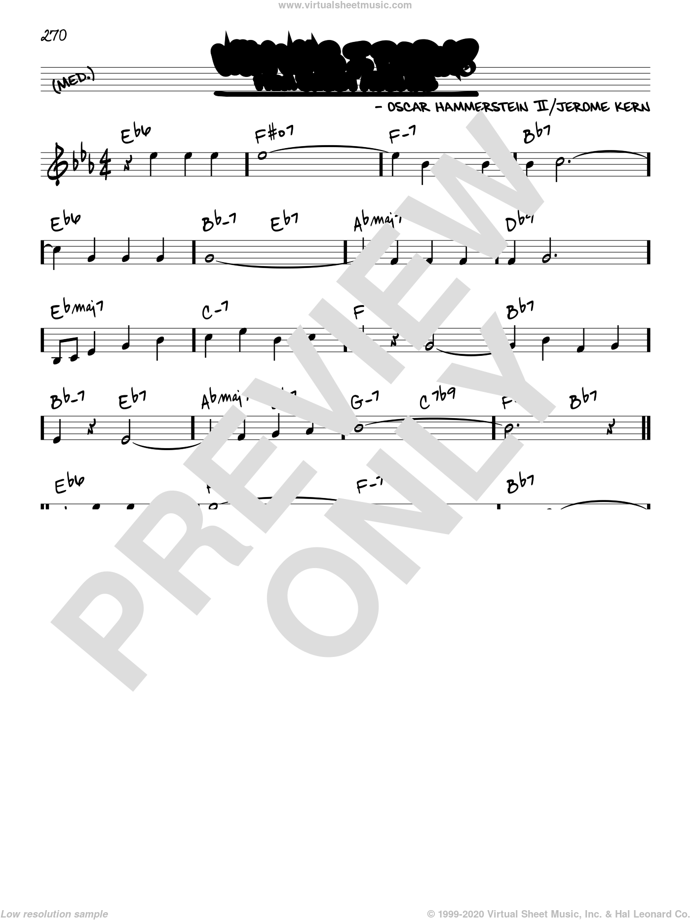 Why Was I Born? sheet music for voice and other instruments (real book) by Oscar II Hammerstein and Jerome Kern, intermediate skill level