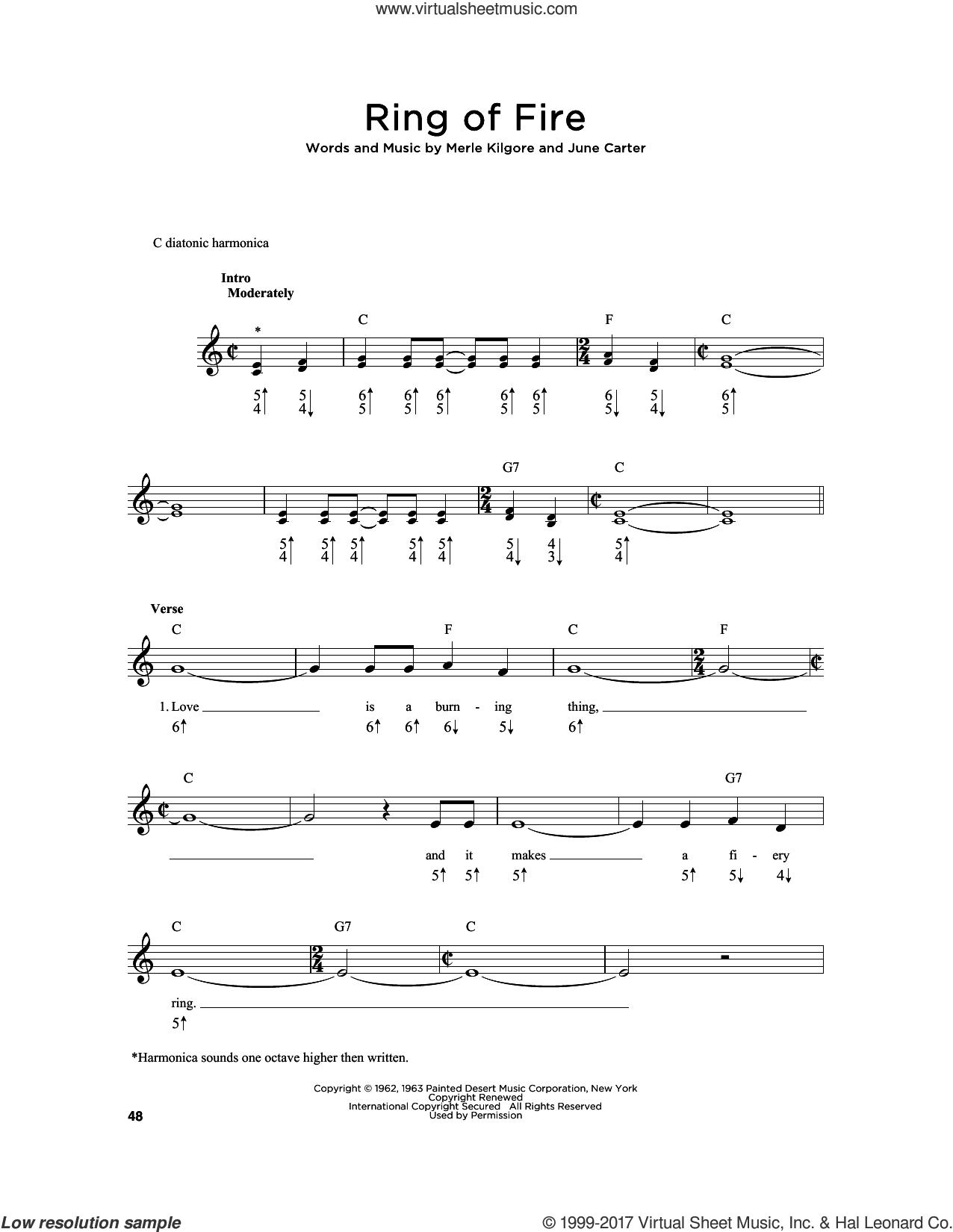 Johnny Cash Ring Of Fire Sheet Music Denmarpulsar