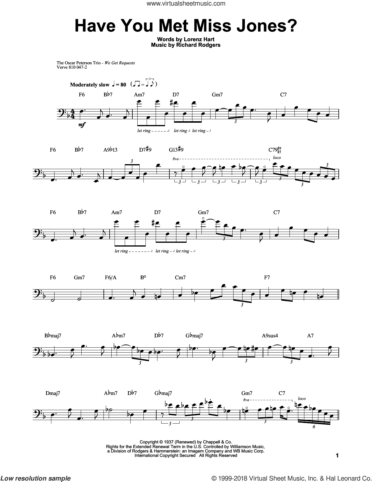 Have You Met Miss Jones? sheet music for brass ensemble (transcription) by Ray Brown, Lorenz Hart and Richard Rodgers, intermediate skill level